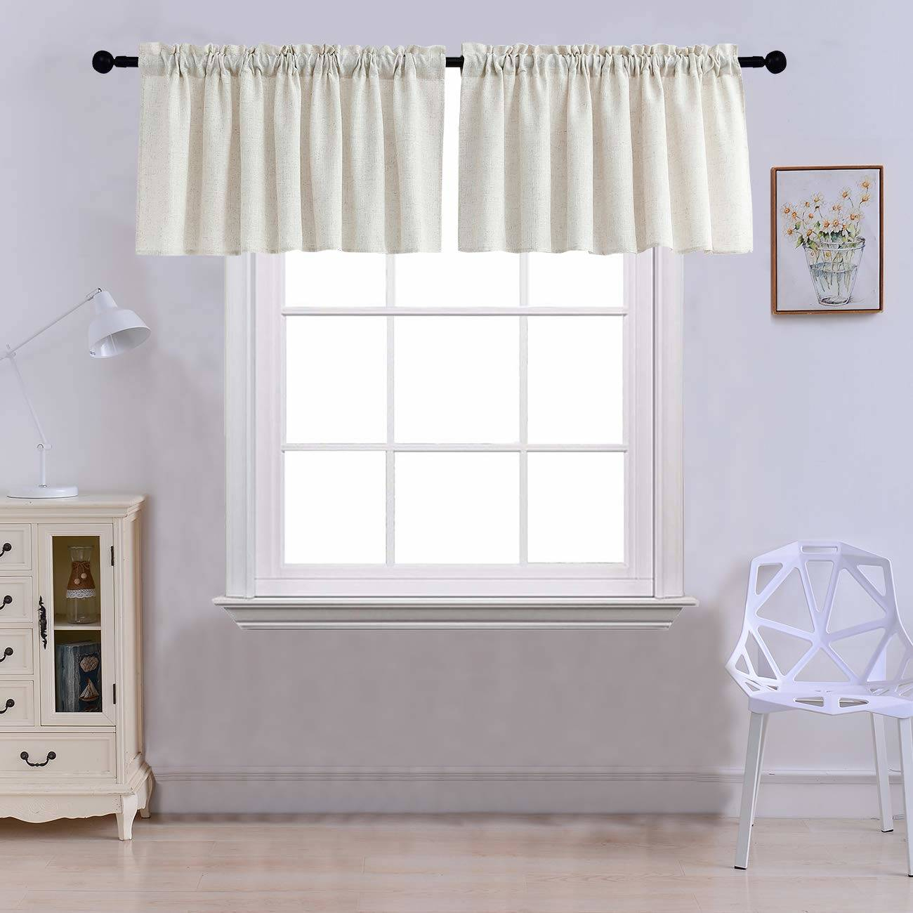 Awesome Curtains And Valences Pretty Decorating Valances With Regard To Semi Sheer Rod Pocket Kitchen Curtain Valance And Tiers Sets (View 1 of 20)