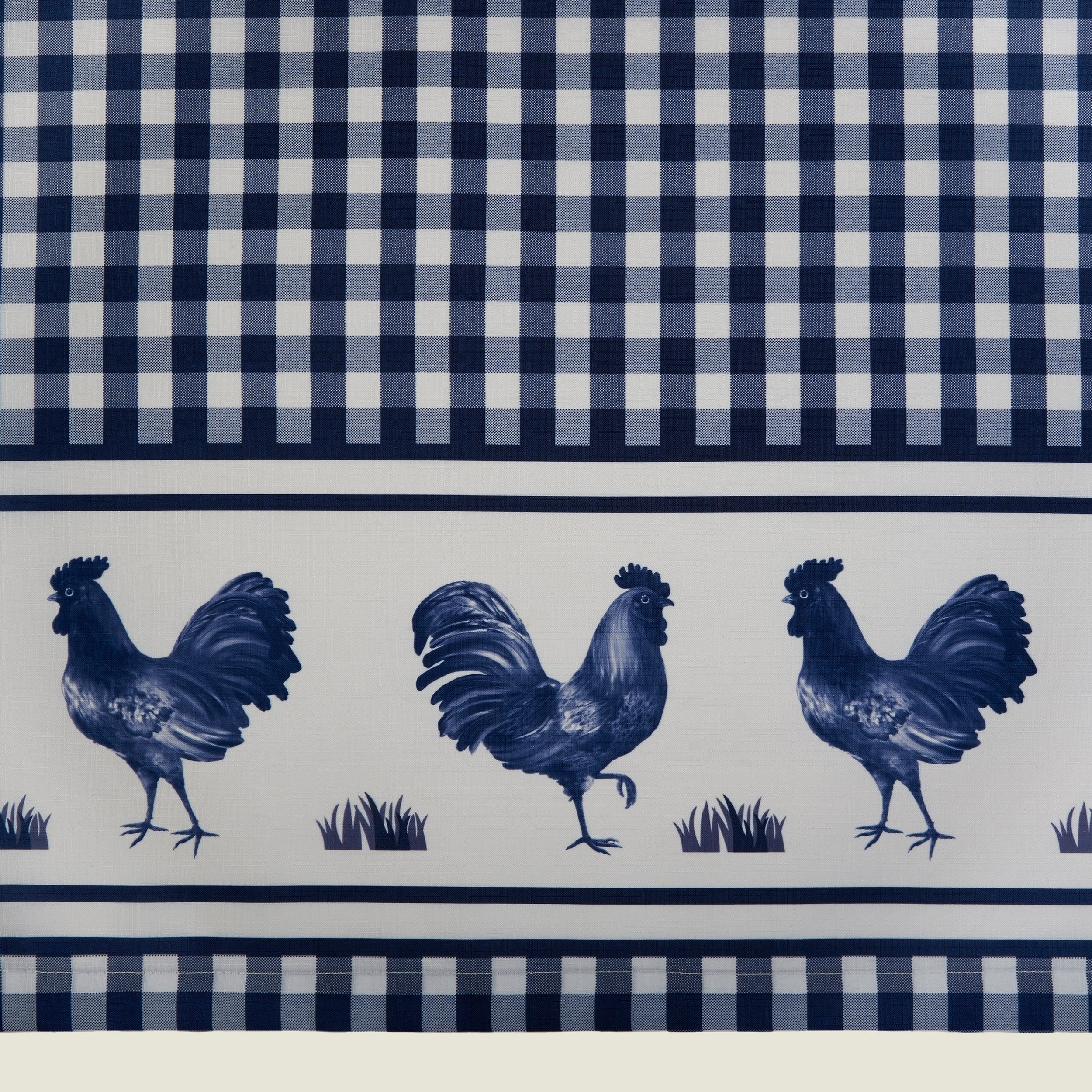 Barnyard Window Curtain Tier Pair And Valance Set with Barnyard Buffalo Check Rooster Window Valances (Image 10 of 20)