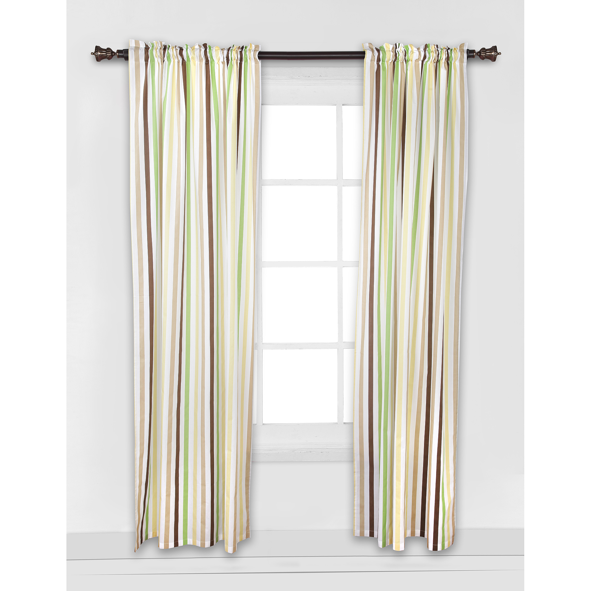 Bed Bath N More Ivory Micro Striped Semi Sheer Window Curtain Pieces – Tiers, Valance And Swag Options In Ivory Micro Striped Semi Sheer Window Curtain Pieces (View 5 of 20)