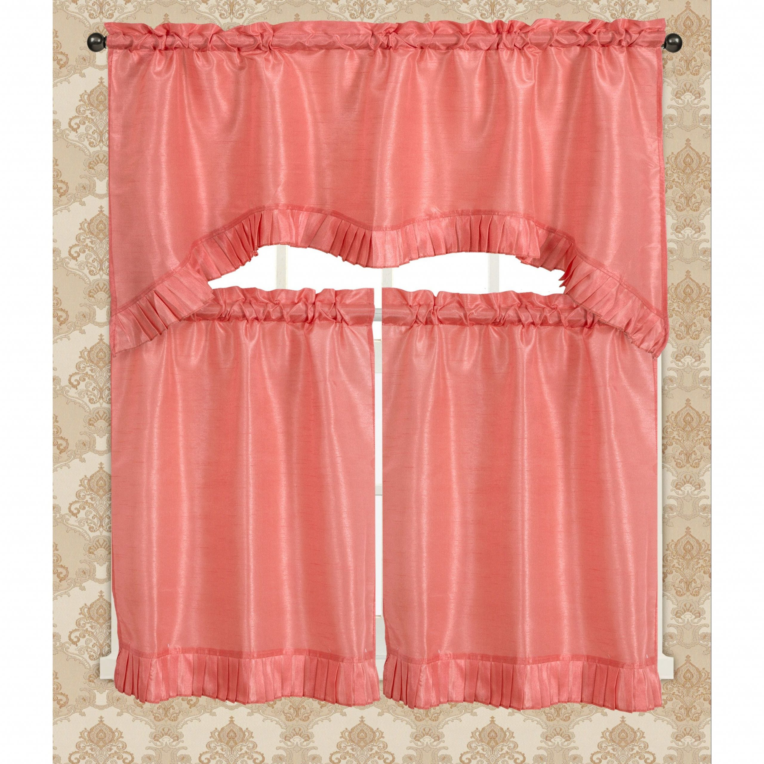 Bermuda Ruffle Kitchen Curtain Tier Set For Bermuda Ruffle Kitchen Curtain Tier Sets (View 5 of 20)