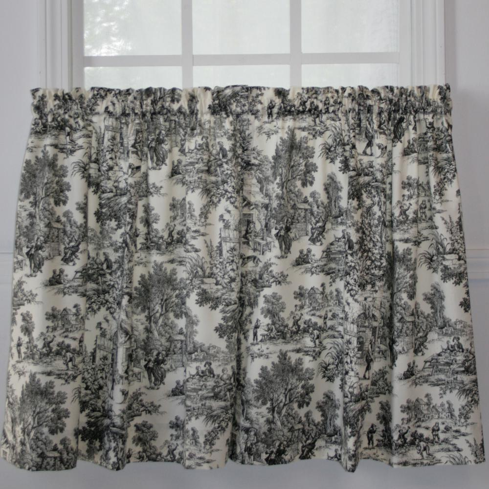 Best Ever Black And White Tier Curtains – Freshomedaily Intended For Classic Black And White Curtain Tiers (View 5 of 20)