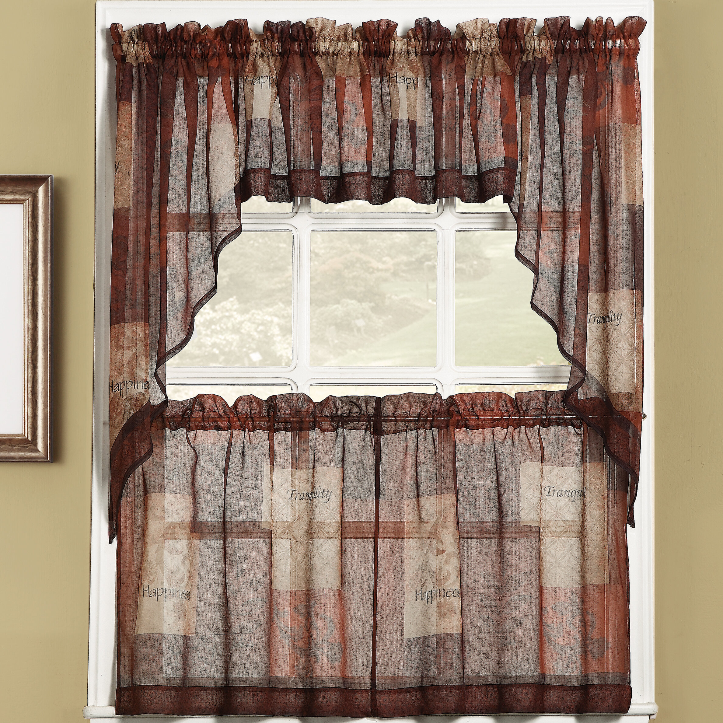 Bigelow Cafe Curtains Inside Sheer Lace Elongated Kitchen Curtain Tier Pairs (View 6 of 20)