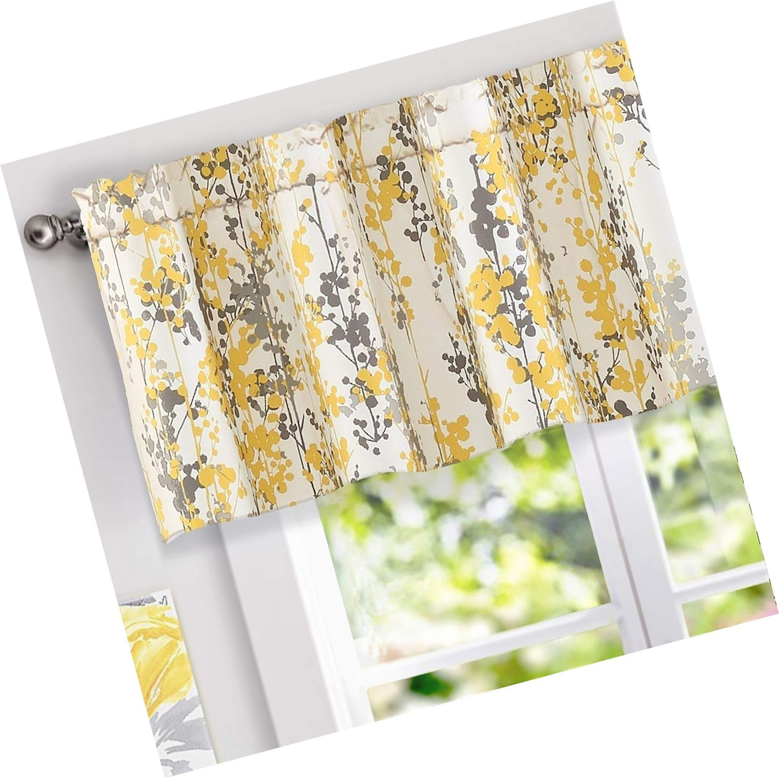 Blinds & Shades In Floral Blossom Ink Painting Thermal Room Darkening Kitchen Tier Pairs (View 18 of 20)