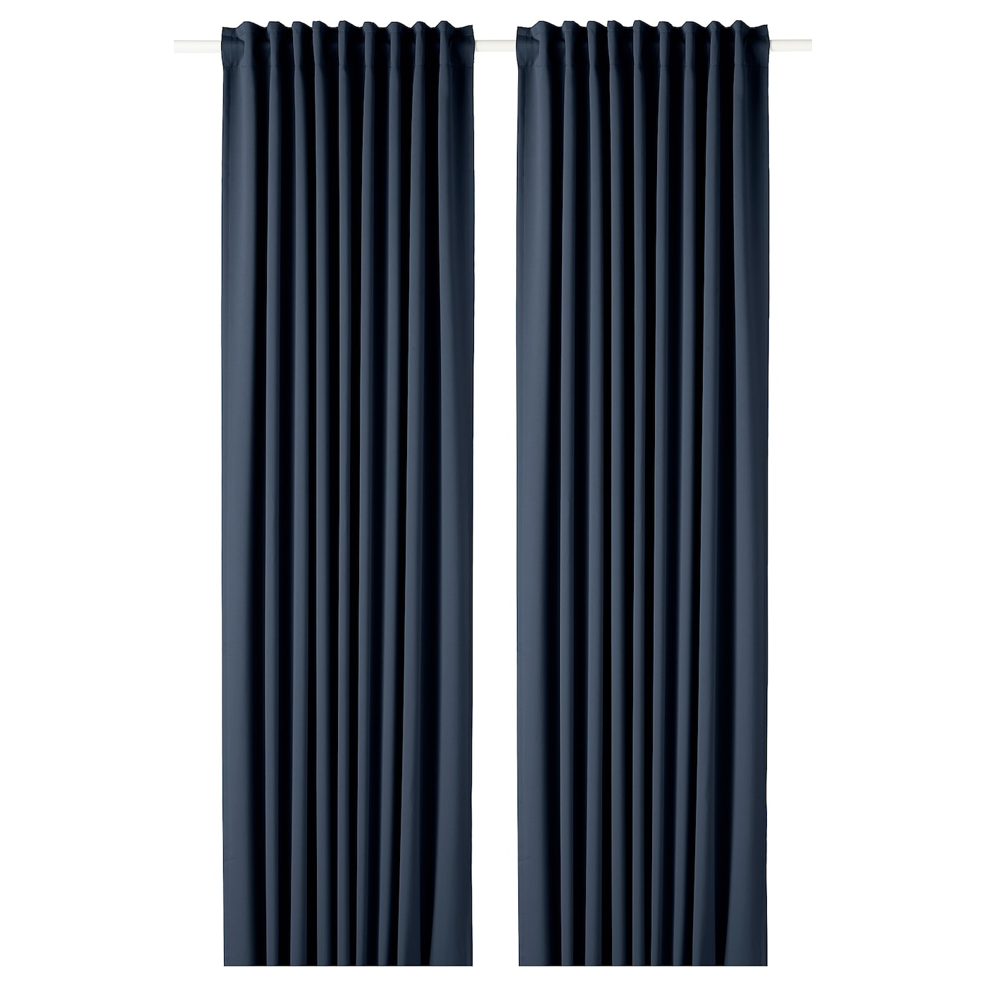 Block Out Curtains, 1 Pair Majgull Dark Blue Regarding Glasgow Curtain Tier Sets (View 11 of 20)