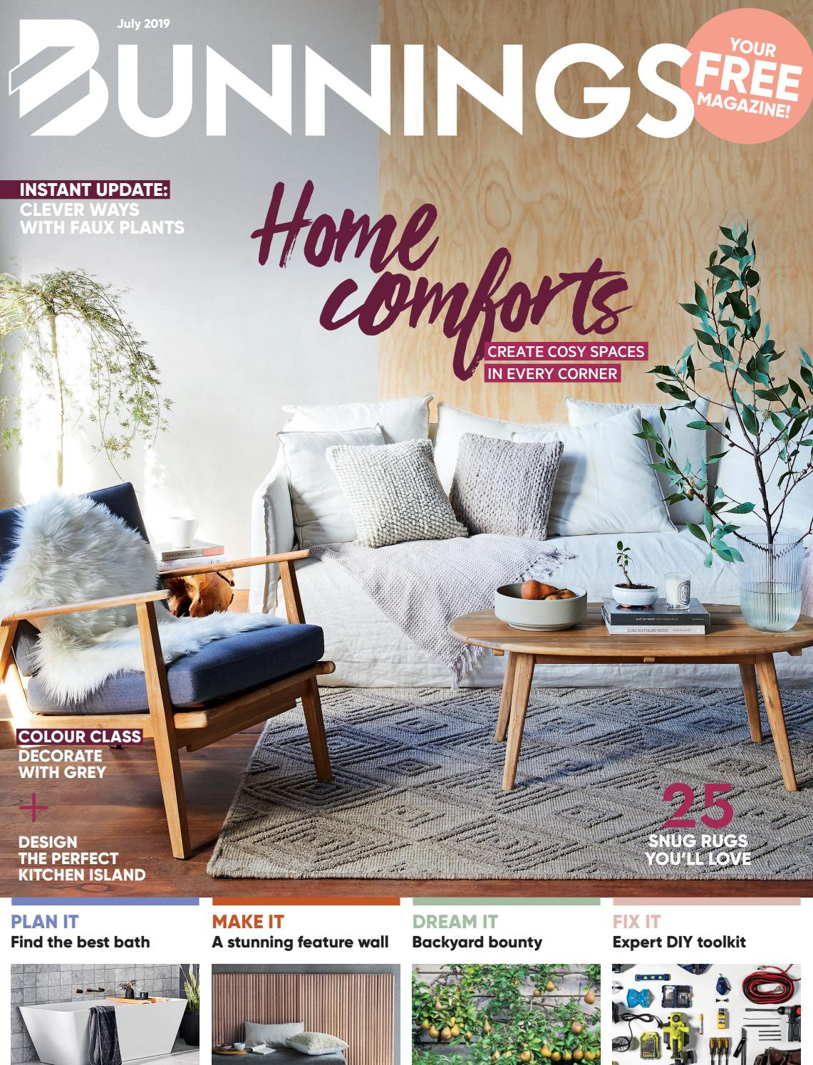 Bunnings Magazine July 2019bunnings – Issuu Within Floral Blossom Ink Painting Thermal Room Darkening Kitchen Tier Pairs (View 17 of 20)