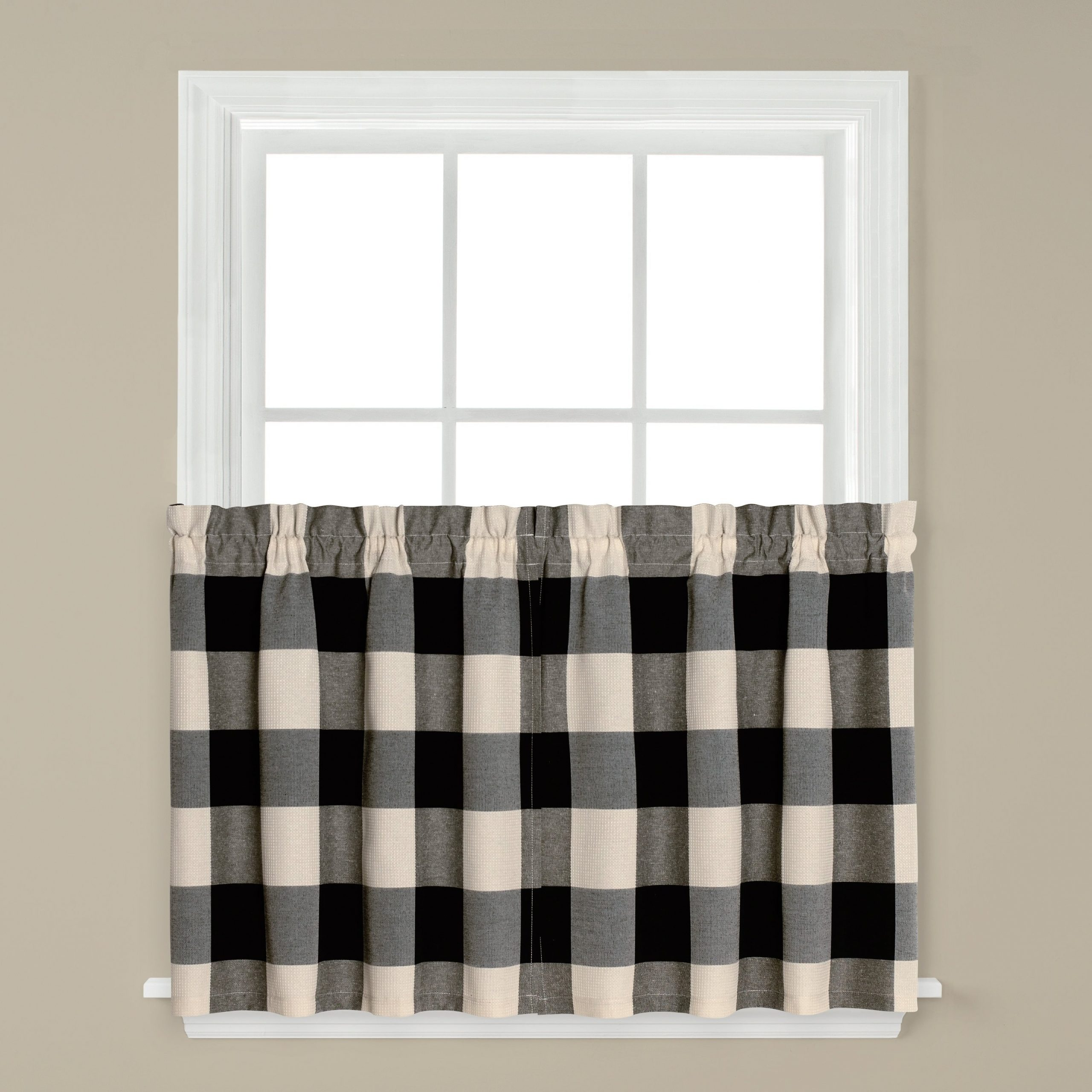 Buy Machine Wash Curtain Tiers Online At Overstock | Our For Dexter 24 Inch Tier Pairs In Green (View 7 of 20)