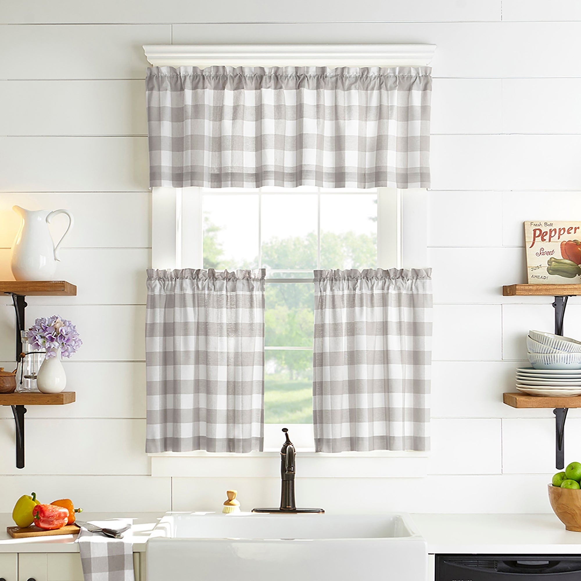 Buy The Gray Barn Curtain Tiers Online At Overstock   Our Pertaining To Flinders Forge 30 Inch Tiers In Dove Grey (View 9 of 20)