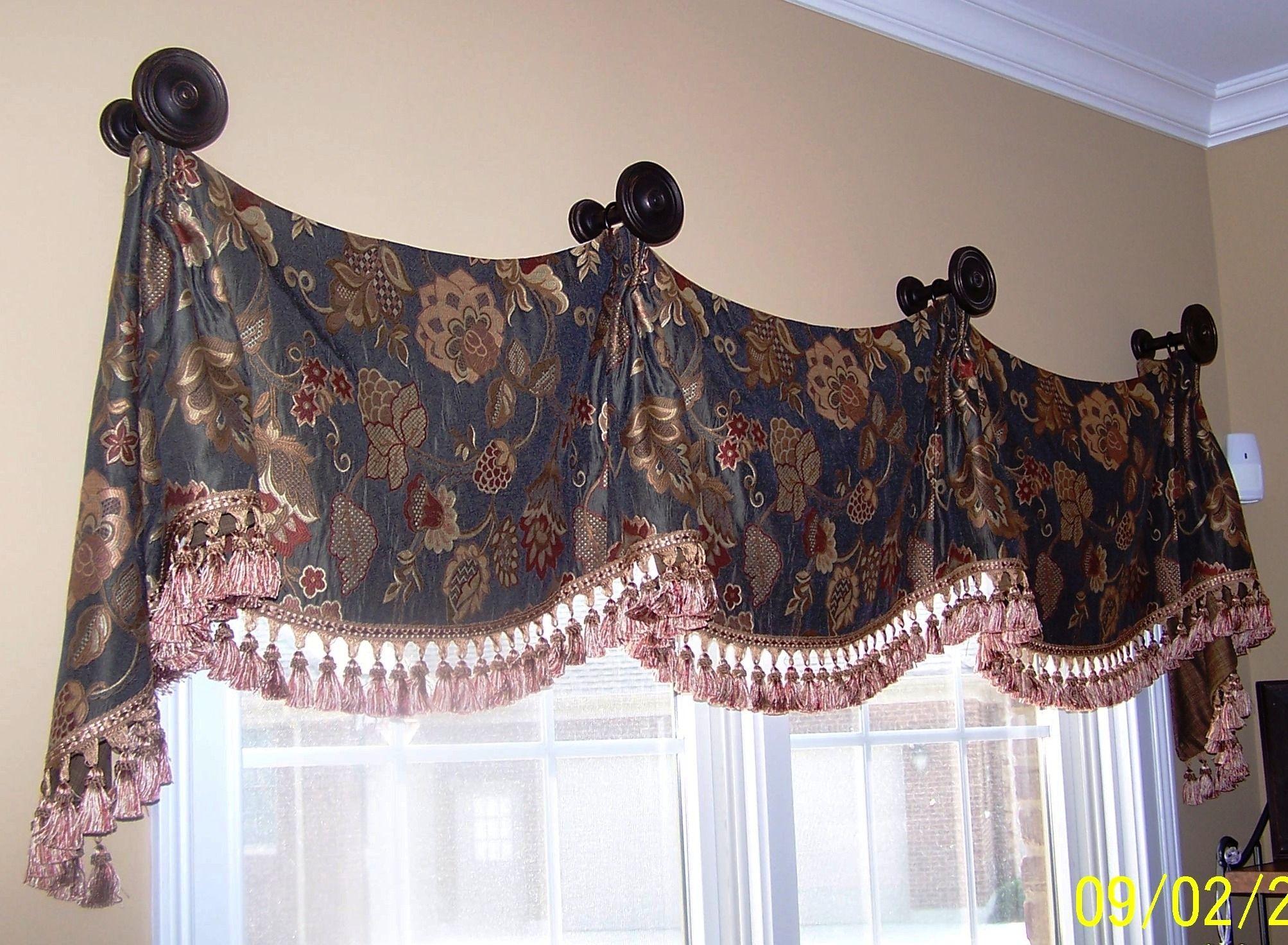 Carolina Valance On Medallions | Custom Window Treatments Inside Medallion Window Curtain Valances (View 5 of 20)