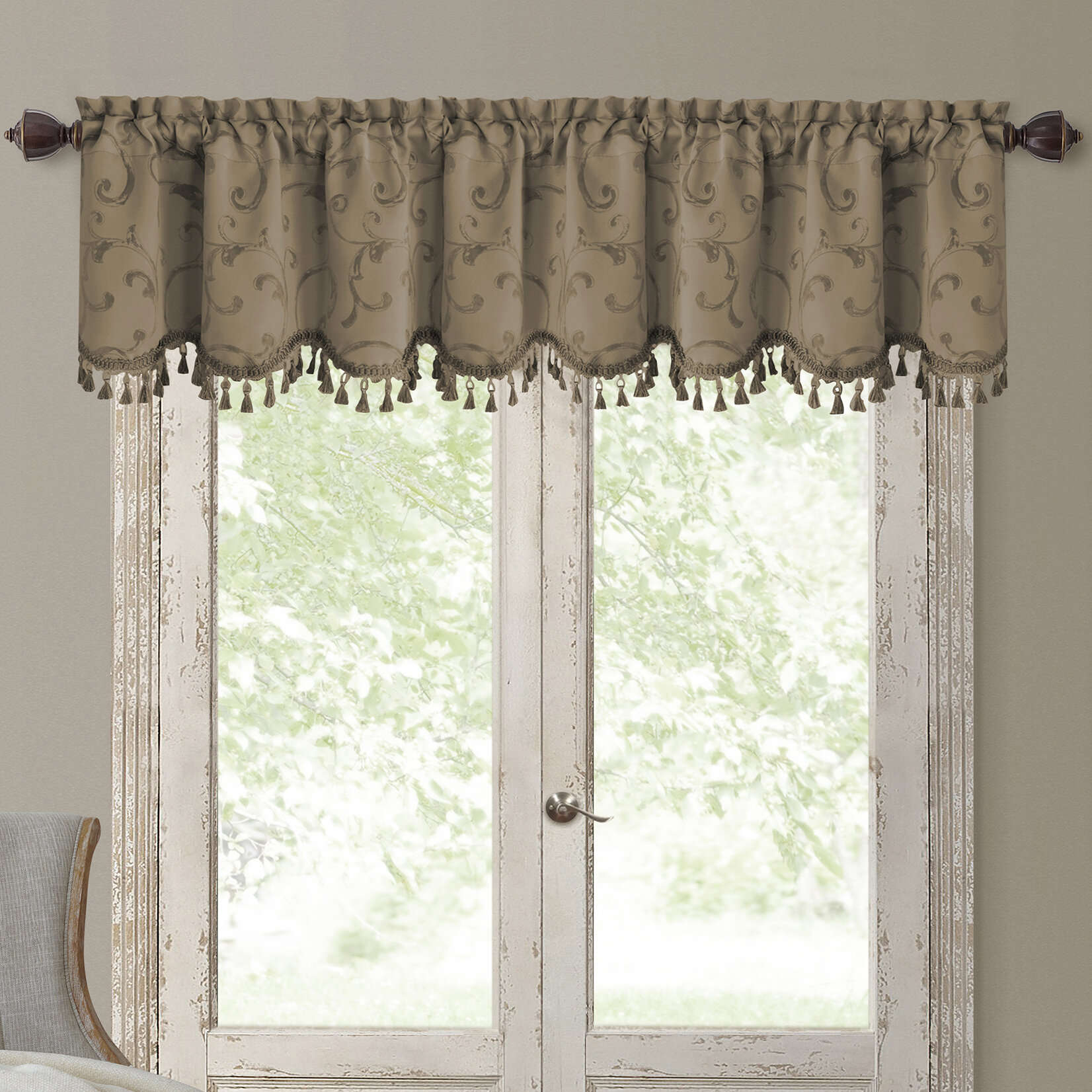 Charming Valance Curtains Interior Enchanting Black And With Regard To Classic Black And White Curtain Tiers (View 8 of 20)