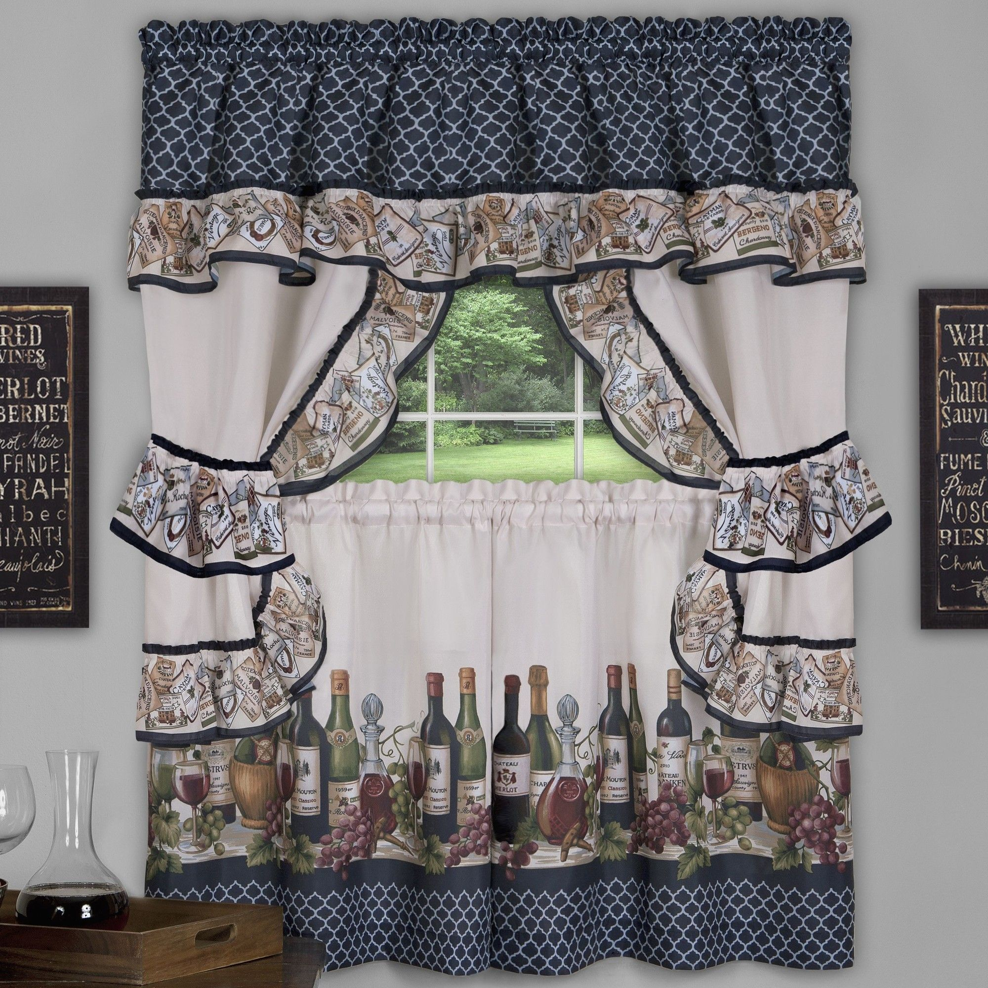 """Chateau 57"""" Valance And Tier Set 