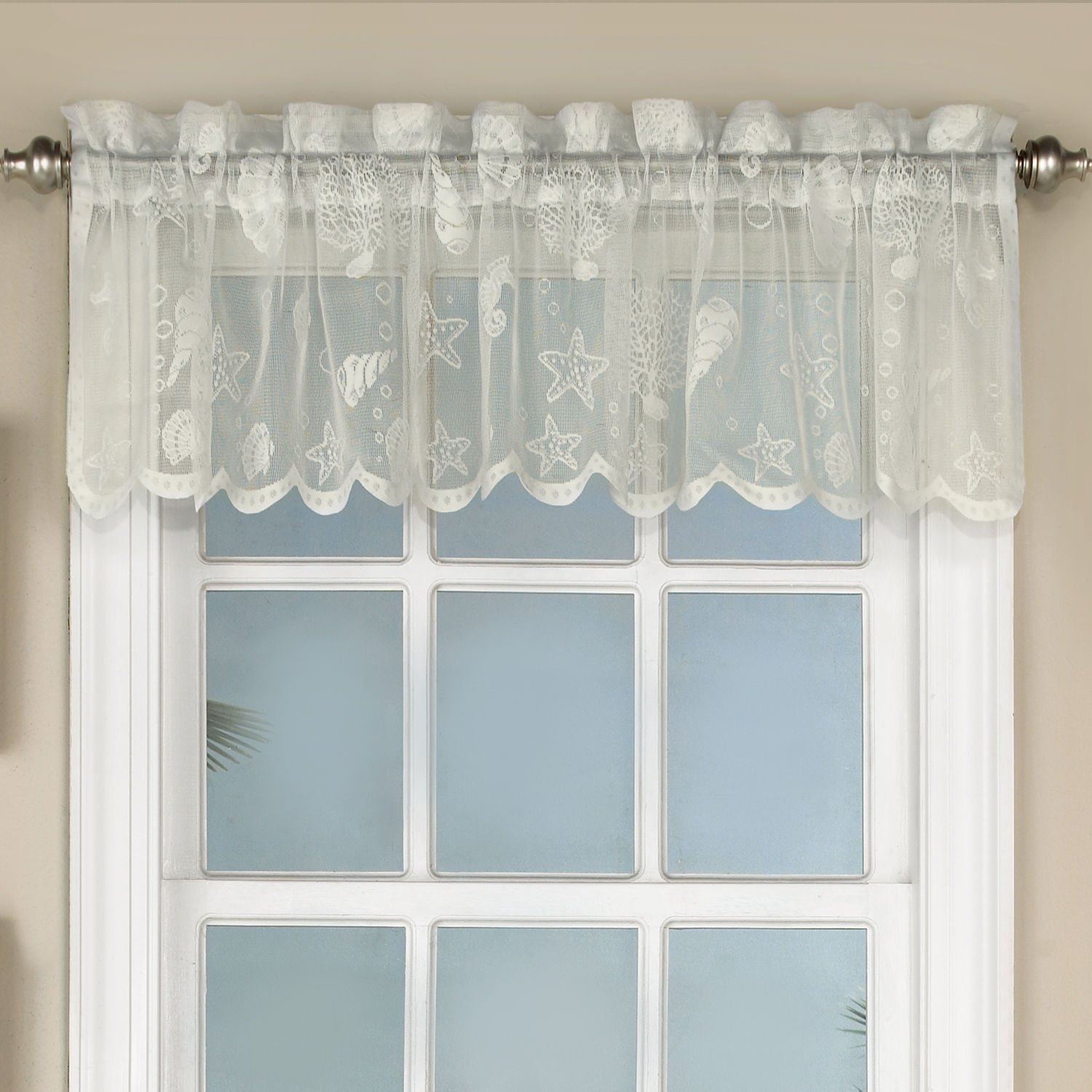 Cheap White Lace Kitchen Curtains, Find White Lace Kitchen Regarding French Vanilla Country Style Curtain Parts With White Daisy Lace Accent (View 16 of 20)