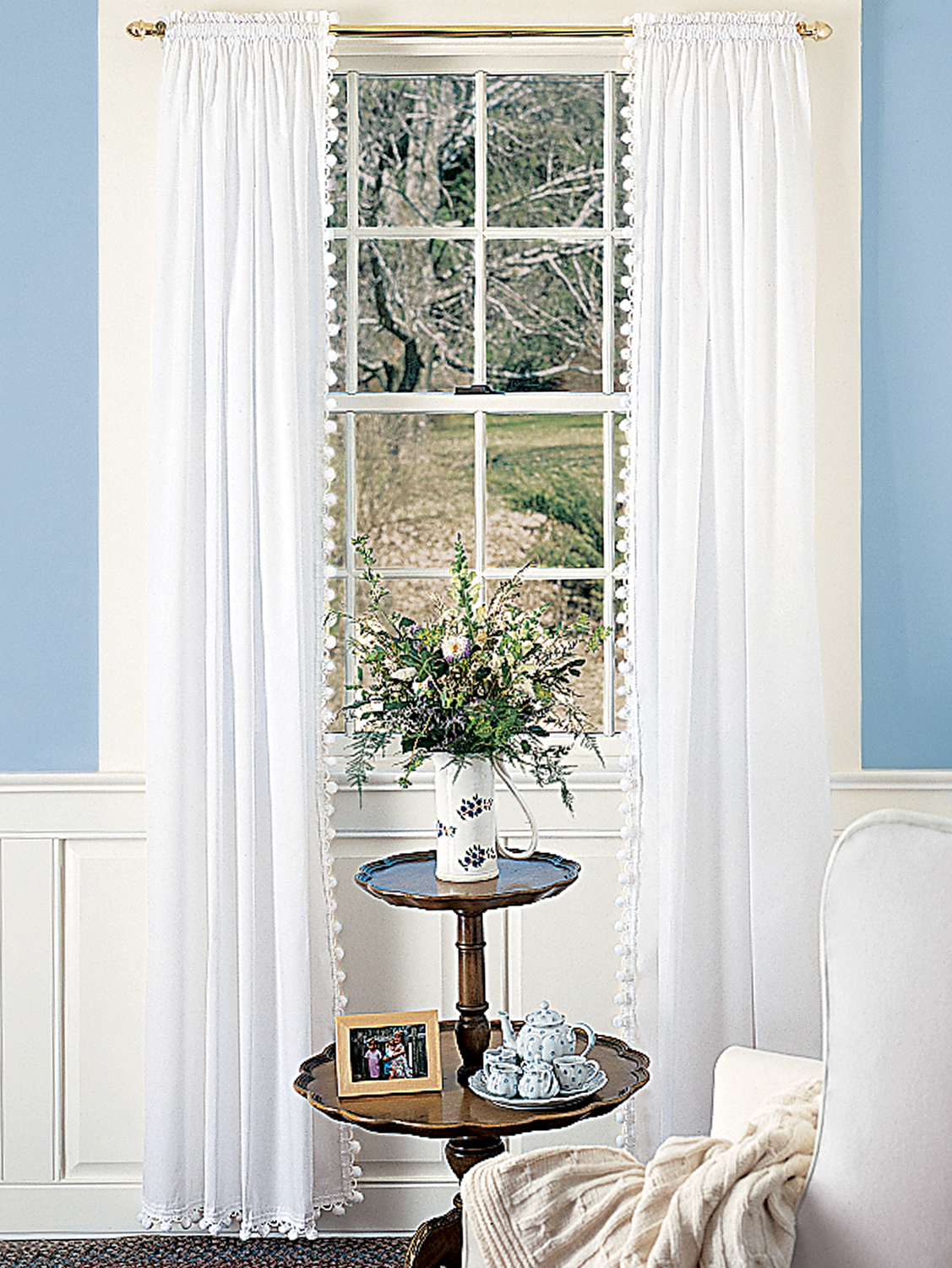 Classic Ball Fringe Rod Pocket Curtains And Tiers In 2019 With Serene Rod Pocket Kitchen Tier Sets (View 5 of 20)