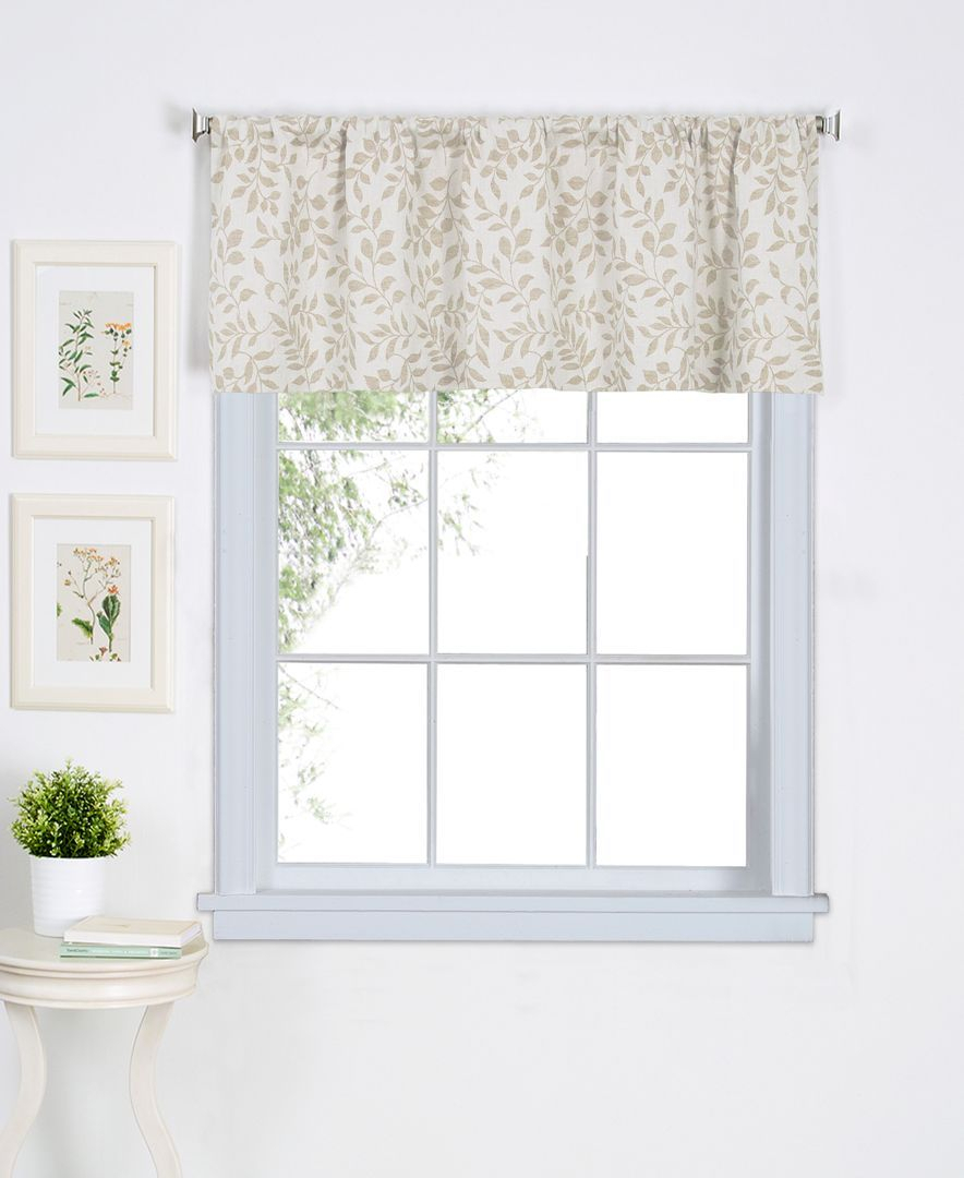 """Closeout! Elrene Serene 60"""" X 15"""" Valance 