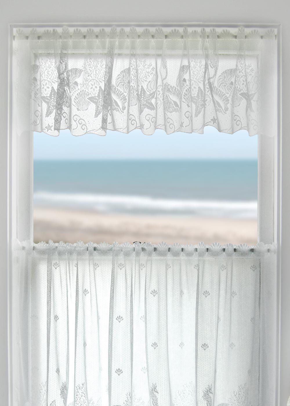 Coastal Seascape Lace Valanceheritage Lace (View 9 of 20)