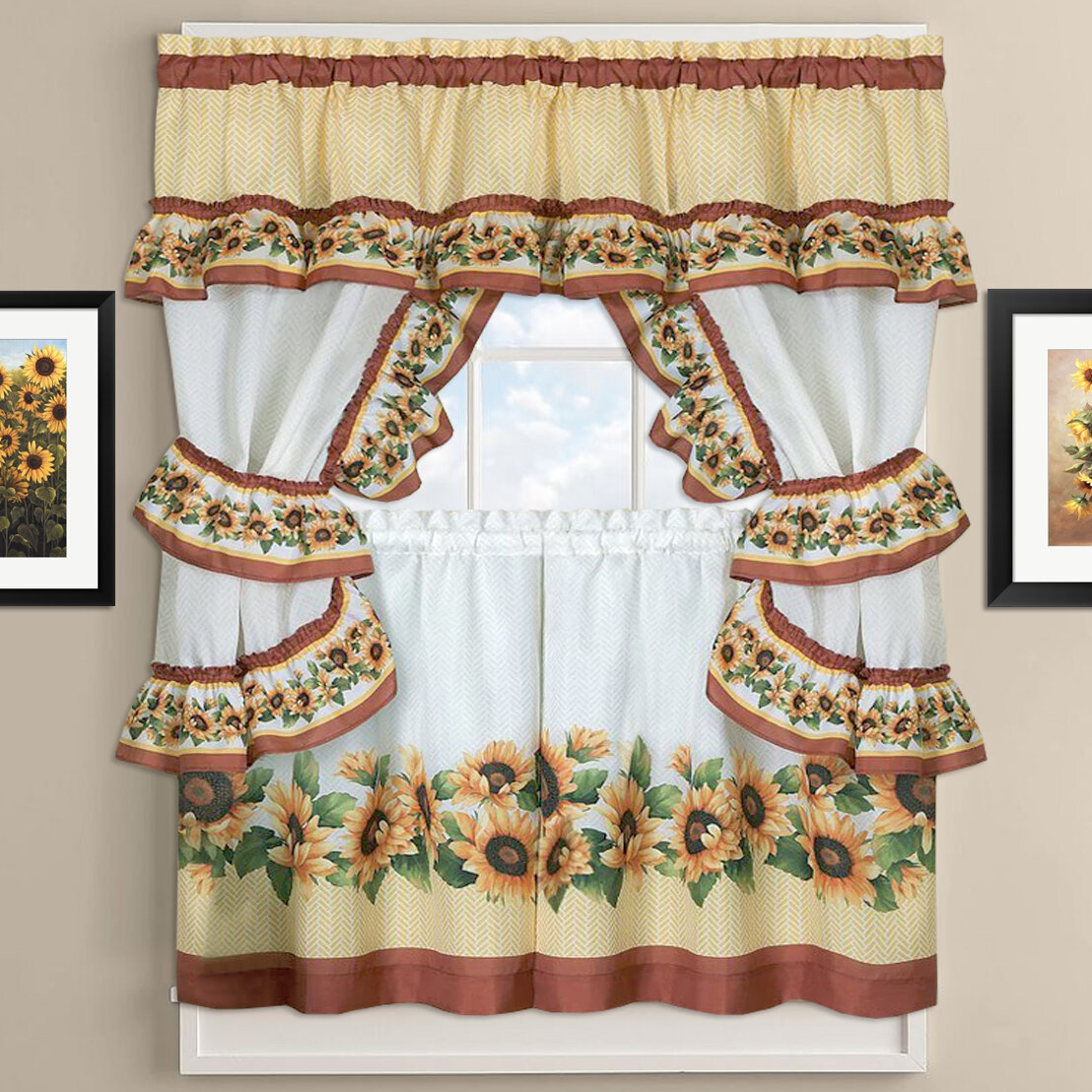 Cottage Kitchen Curtains – Skushi With Regard To Chateau Wines Cottage Kitchen Curtain Tier And Valance Sets (View 8 of 20)