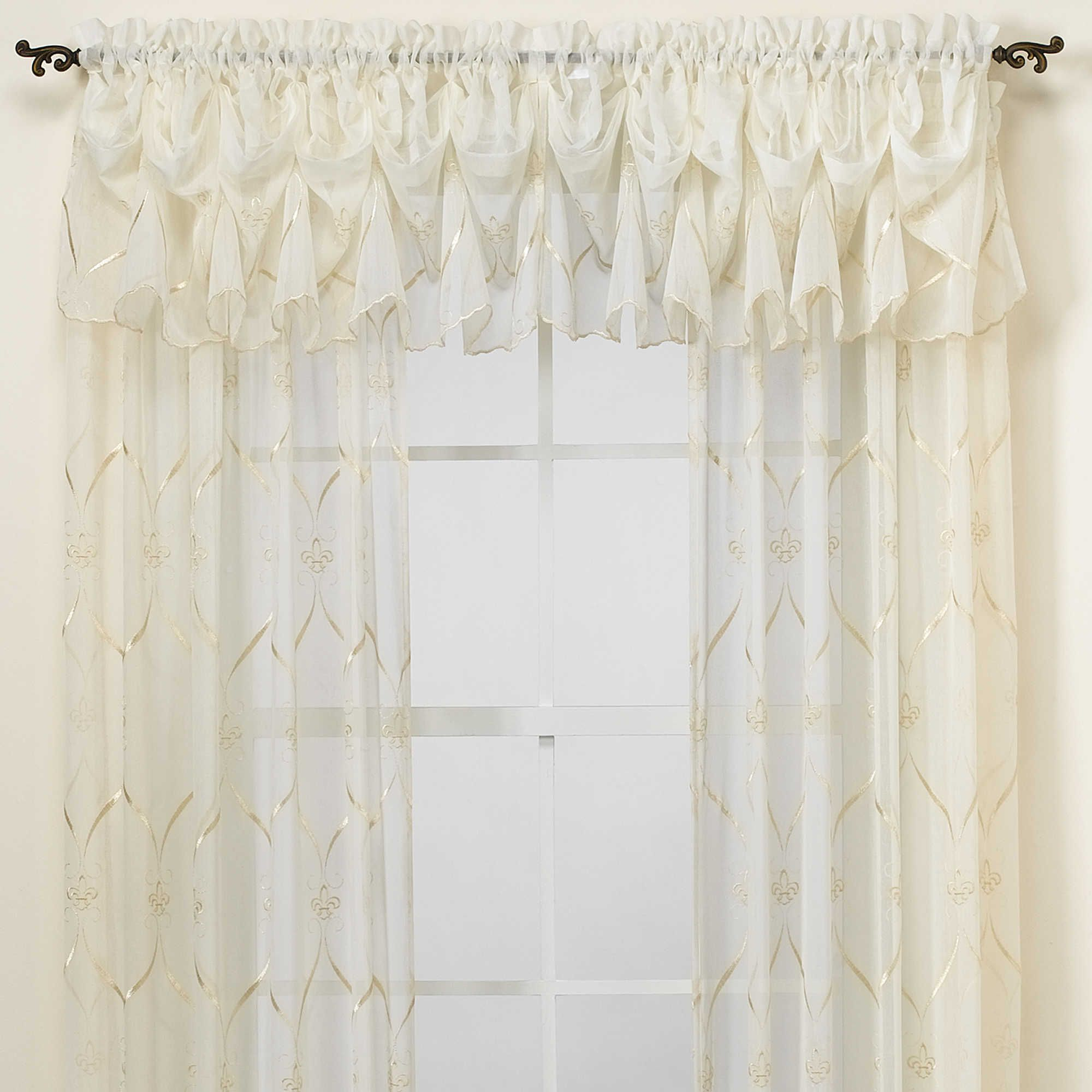 Croscill® Cavalier Sheer Window Panel   Entry/dining Room Throughout Ivory Knit Lace Bird Motif Window Curtain (View 3 of 20)
