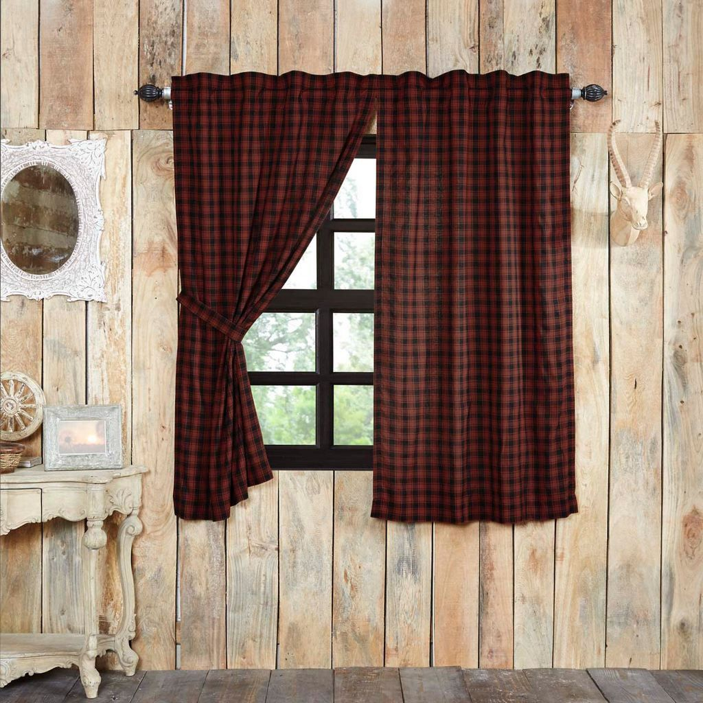"""Cumberland Lined Short Panel Curtains 63"""" 