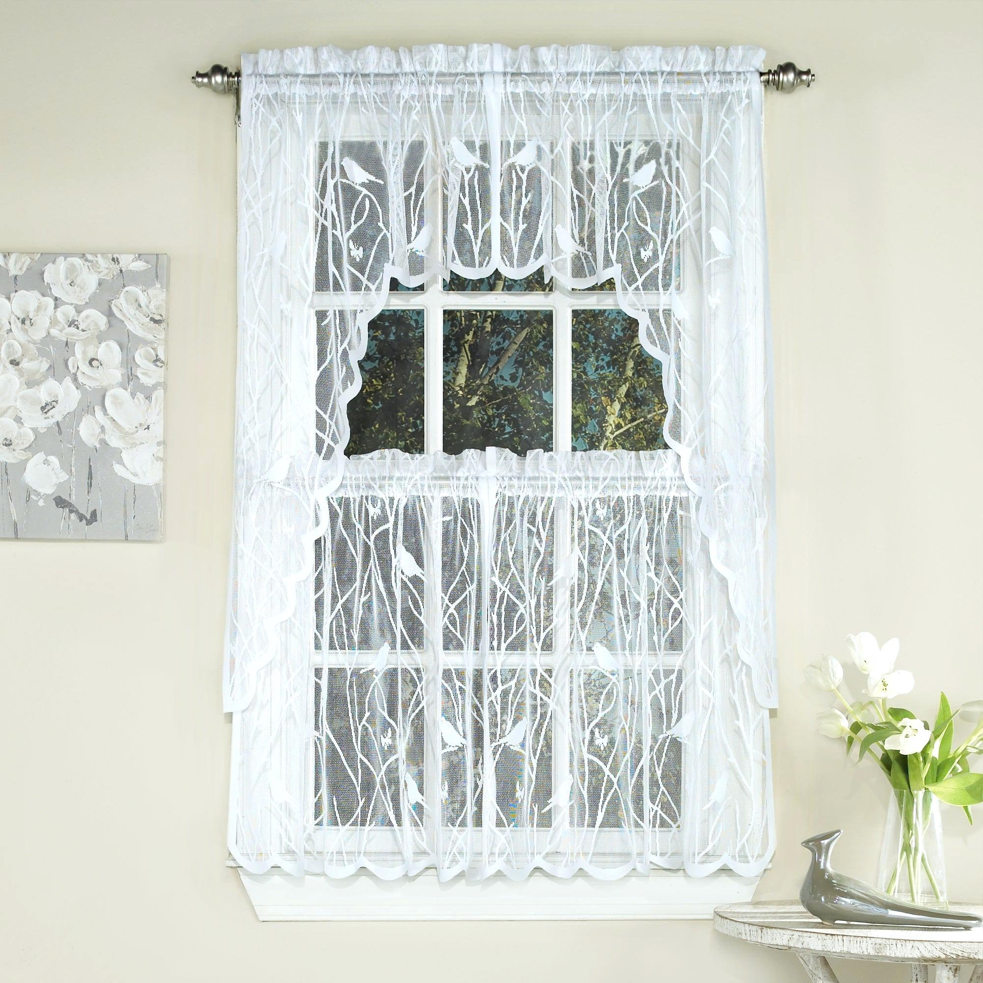Curtain Tiers – Churubuscochamber Intended For Serene Rod Pocket Kitchen Tier Sets (View 6 of 20)