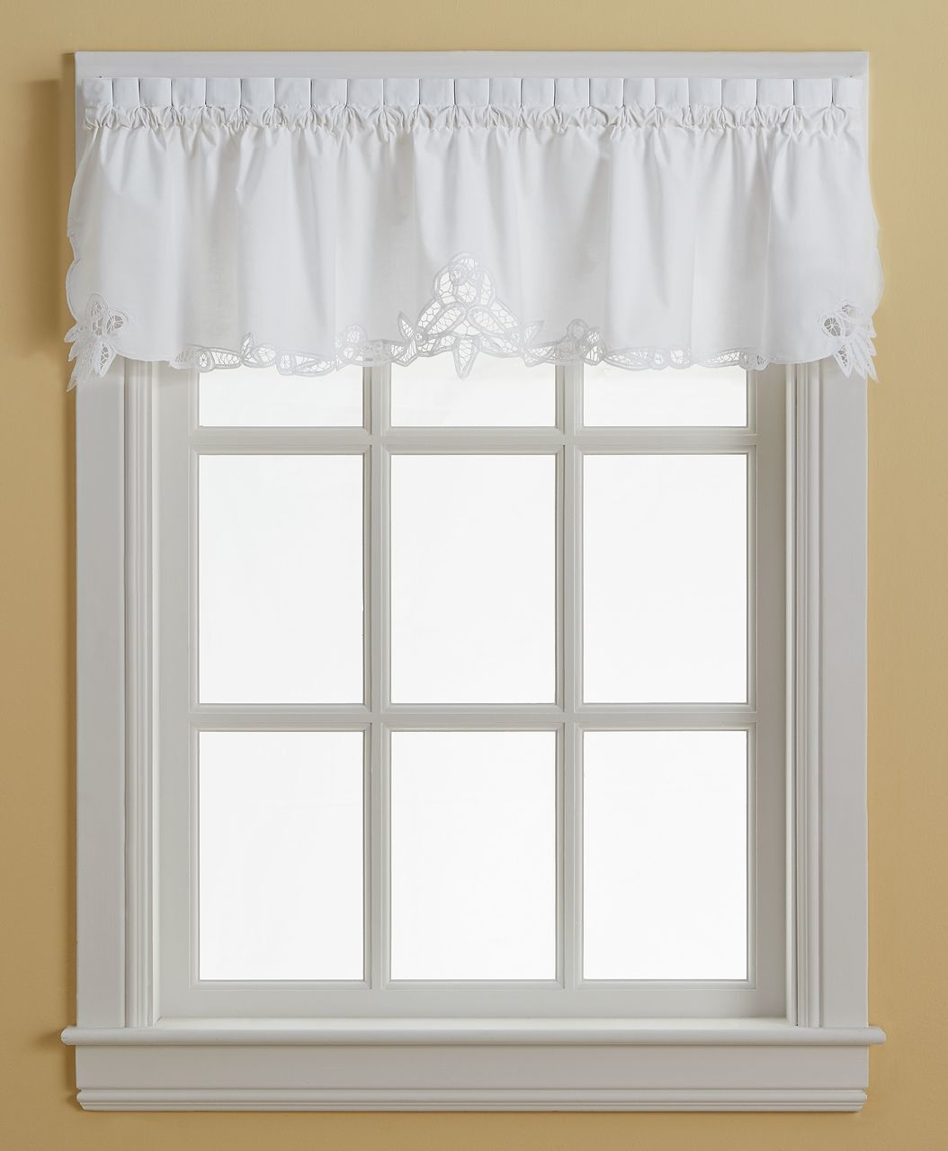 Curtains, Drapes & Valances Home & Garden Crochet Lace Pertaining To Cotton Lace 5 Piece Window Tier And Swag Sets (View 20 of 20)