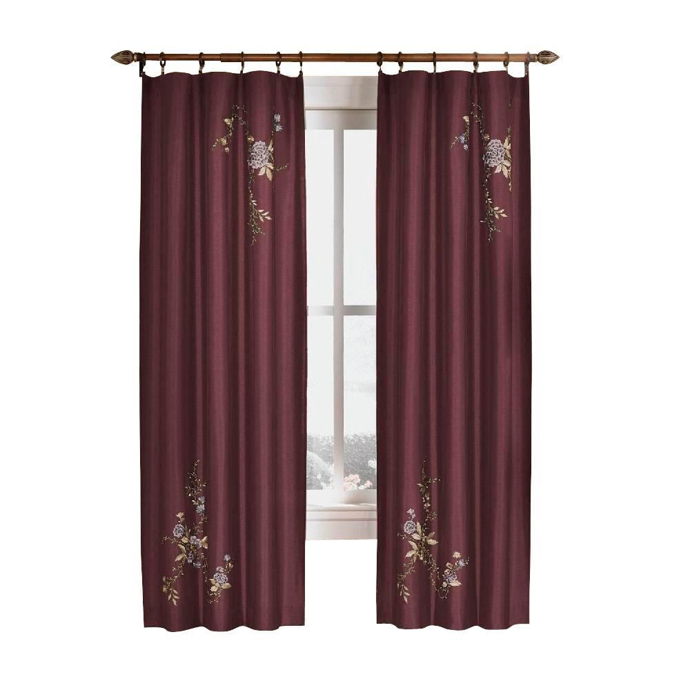 Curtainworks Semi Opaque Eggplant Asia Faux Silk Rod Pocket Curtain – 44 In. W X 95 In (View 16 of 20)