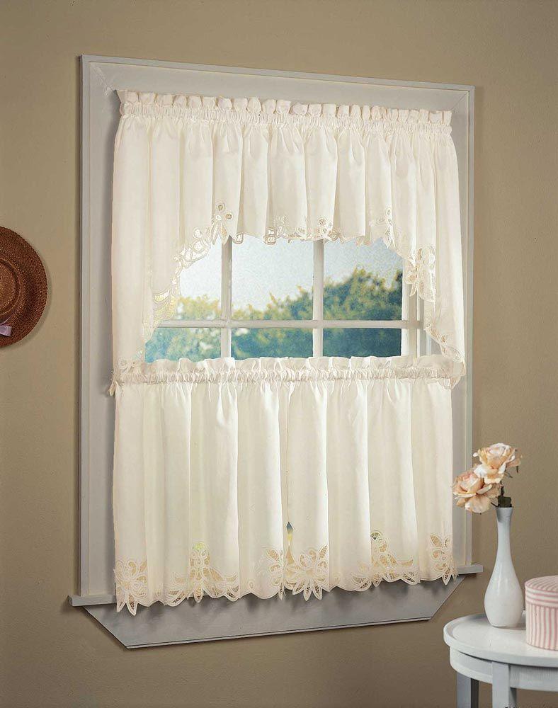 Шторы В Стиле Прованс – 75 Фото Стильного И Современного With Cotton Lace 5 Piece Window Tier And Swag Sets (View 20 of 20)