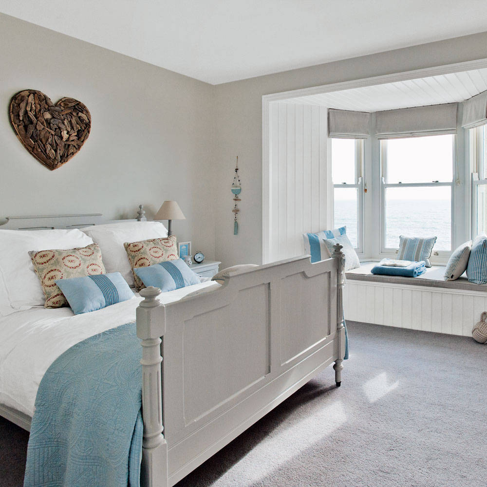 Design Style : Beautiful Beach Themed Bedroom Chairs With Regard To Oakwood Linen Style Decorative Curtain Tier Sets (View 15 of 20)