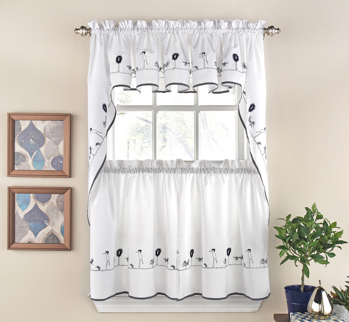 Designer Kitchen Curtains – Thecurtainshop Inside Glasgow Curtain Tier Sets (View 10 of 20)