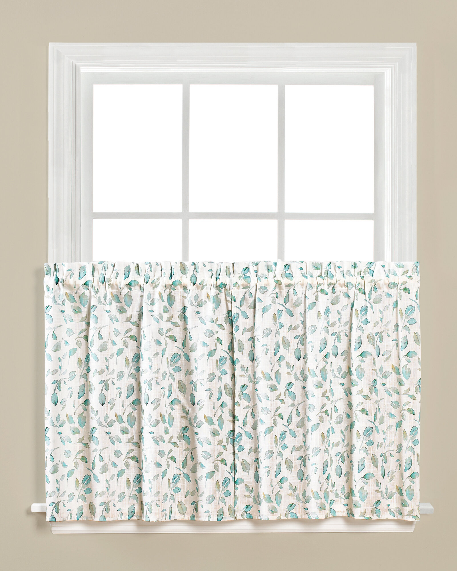 Details About August Grove Paluch Cafe Curtain Set Of 2 Inside Spring Daisy Tiered Curtain 3 Piece Sets (View 5 of 20)