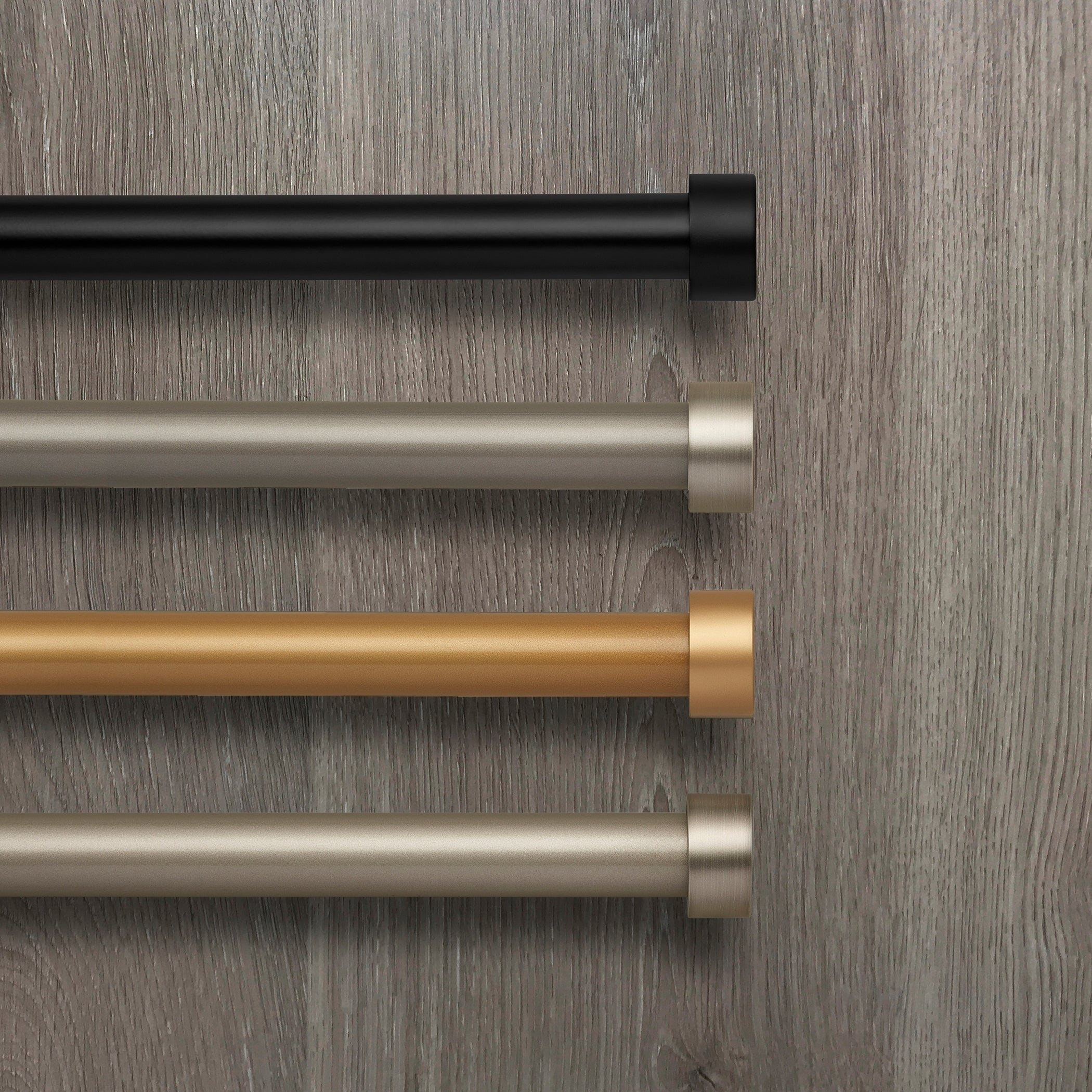 Details About Elrene Serena Adjustable Window Curtain Rod And Cap Shaped Inside Serene Rod Pocket Kitchen Tier Sets (View 8 of 20)