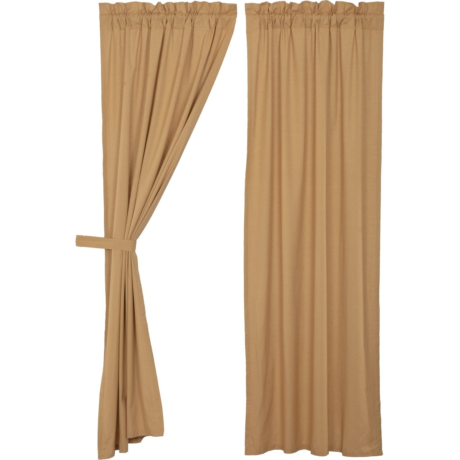 Details About Farmhouse Curtains Vhc Simple Life Flax Panel Pair Rod In Simple Life Flax Tier Pairs (View 2 of 20)