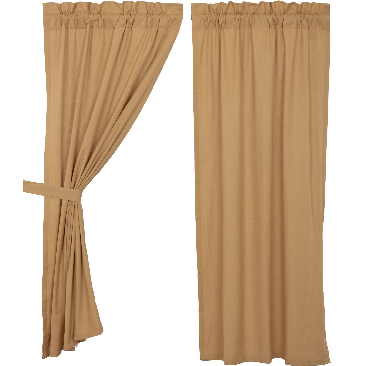 Details About Farmhouse Curtains Vhc Simple Life Flax Panel Pair Rod With Simple Life Flax Tier Pairs (View 3 of 20)