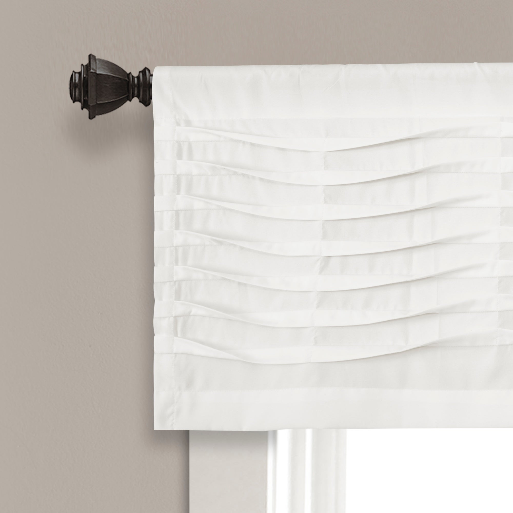 Details About Porch & Den Kinnaman Wave Texture Window Curtain Valance inside Porch & Den Lorentz Silver 24-Inch Tier Pairs (Image 2 of 20)