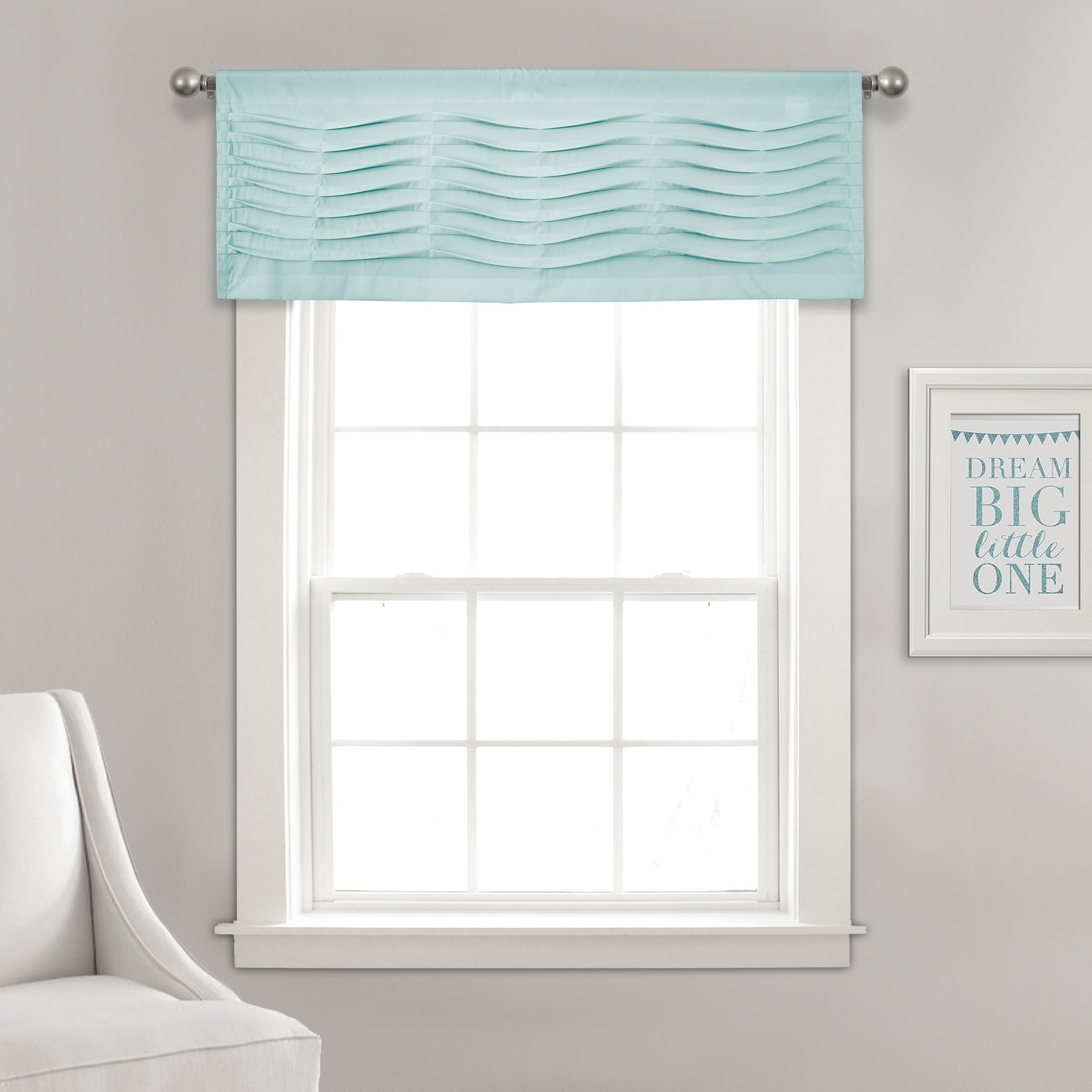 Details About Porch & Den Kinnaman Wave Texture Window Curtain Valance with regard to Porch & Den Lorentz Silver 24-Inch Tier Pairs (Image 4 of 20)