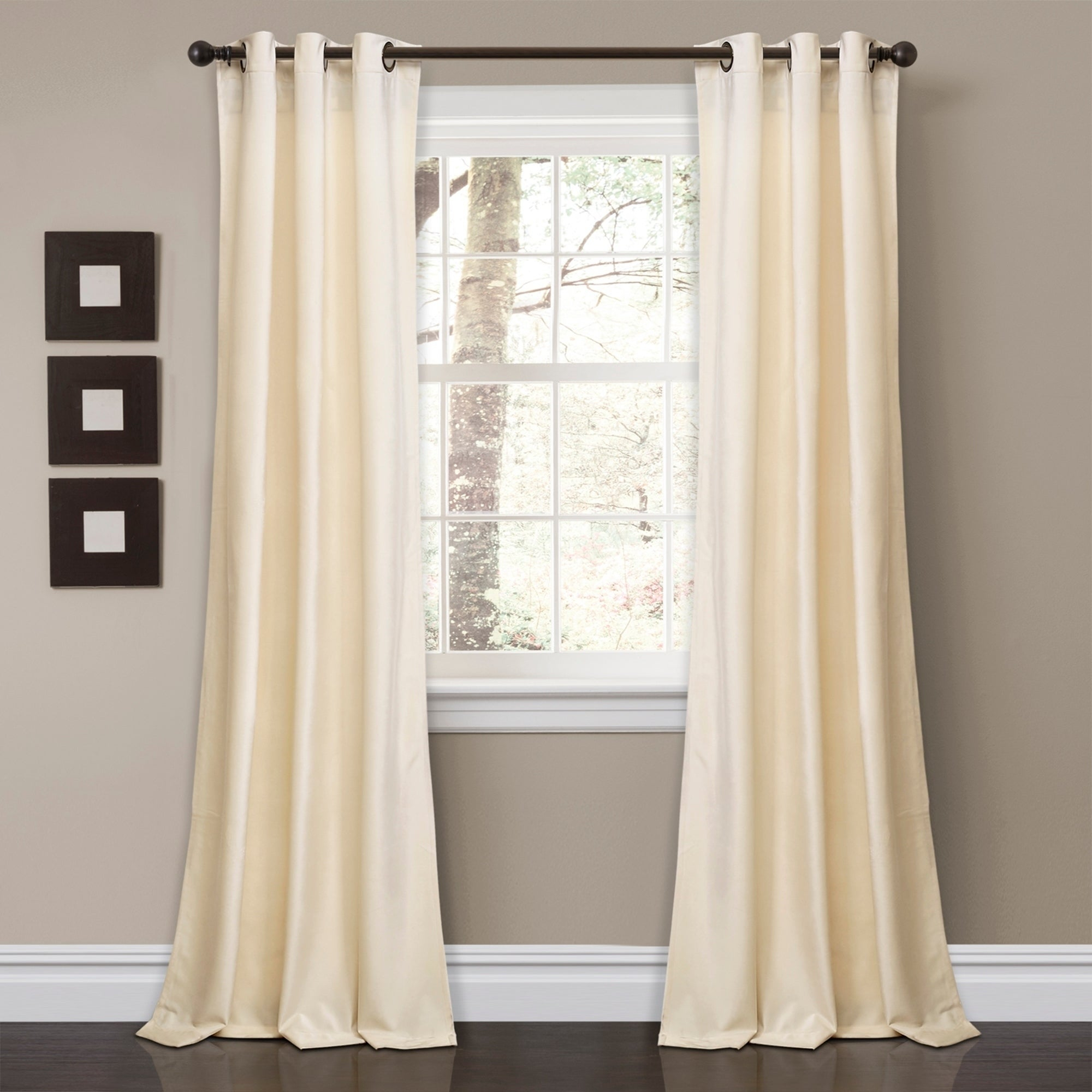 Details About Porch & Den Lapeyrous Velvet Solid Room Darkening Window for Porch & Den Park Point Blush 24-Inch Tier Pairs (Image 6 of 20)