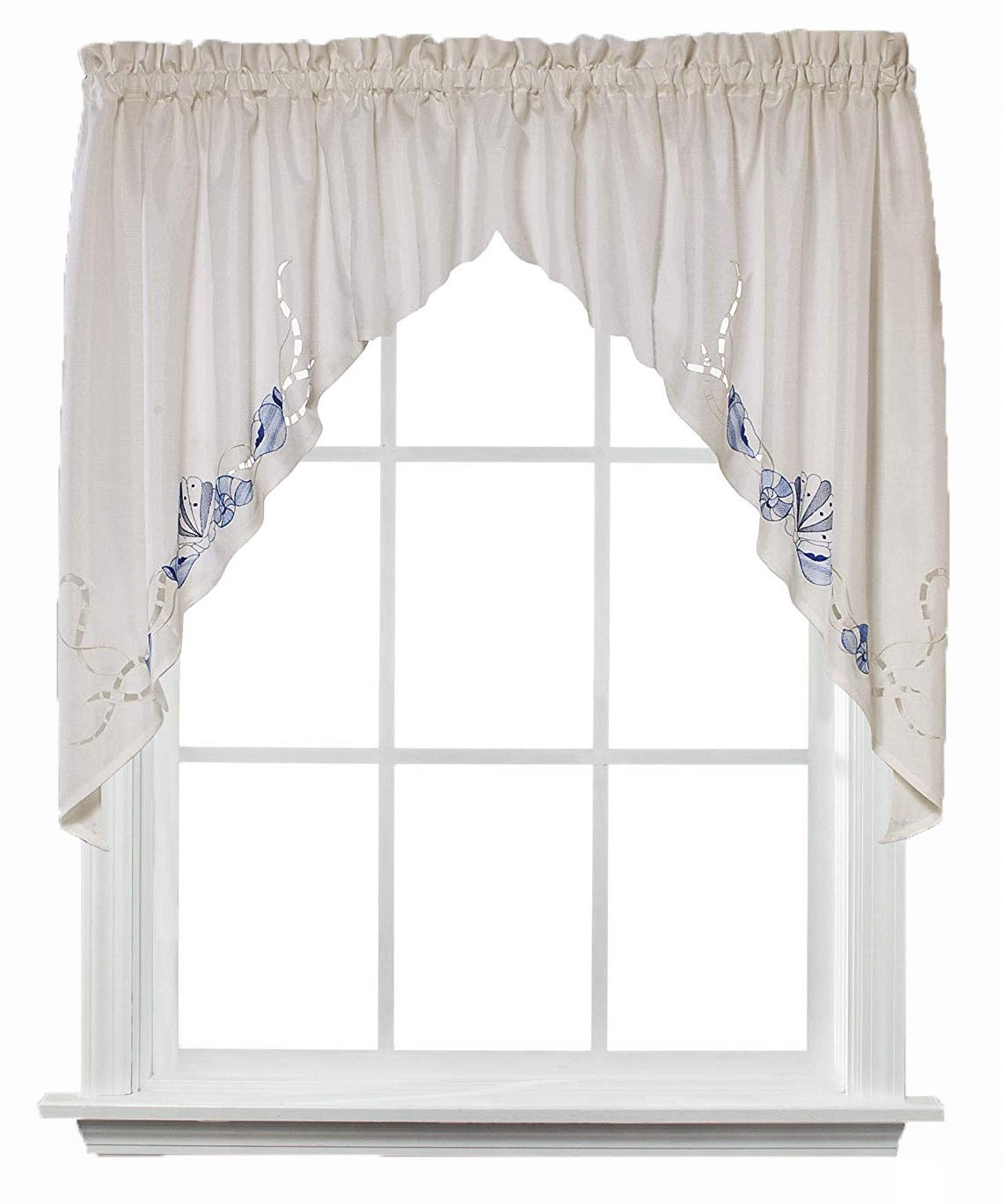 """Details About Saturday Knight Seabreeze Swag Curtain Valance 57"""" X 36"""" With Regard To Seabreeze 36 Inch Tier Pairs In Ocean (View 4 of 20)"""