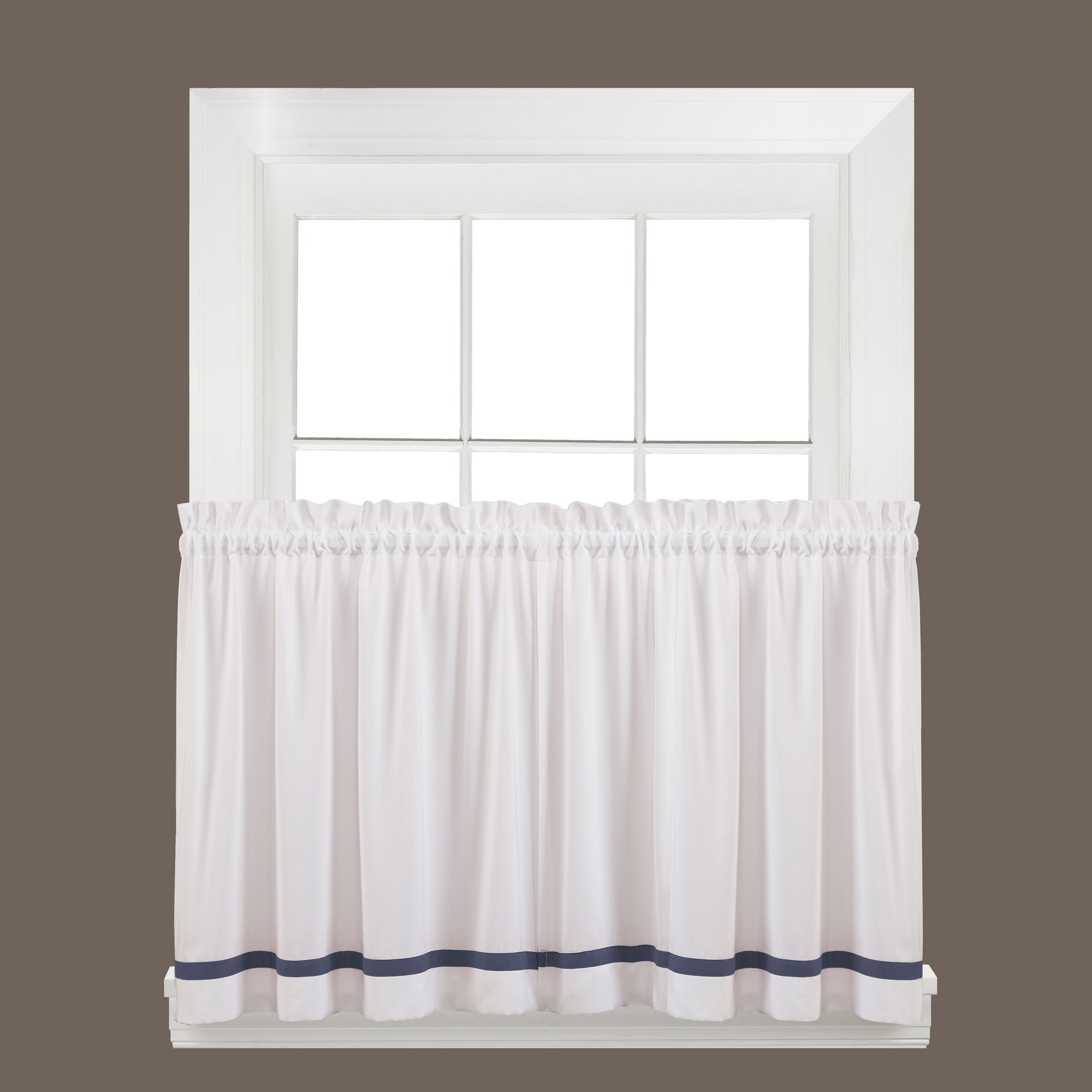 Details About Skl Home Kate 36 Inch Tier Pair In Blue Blue With Forest Valance And Tier Pair Curtains (View 7 of 20)