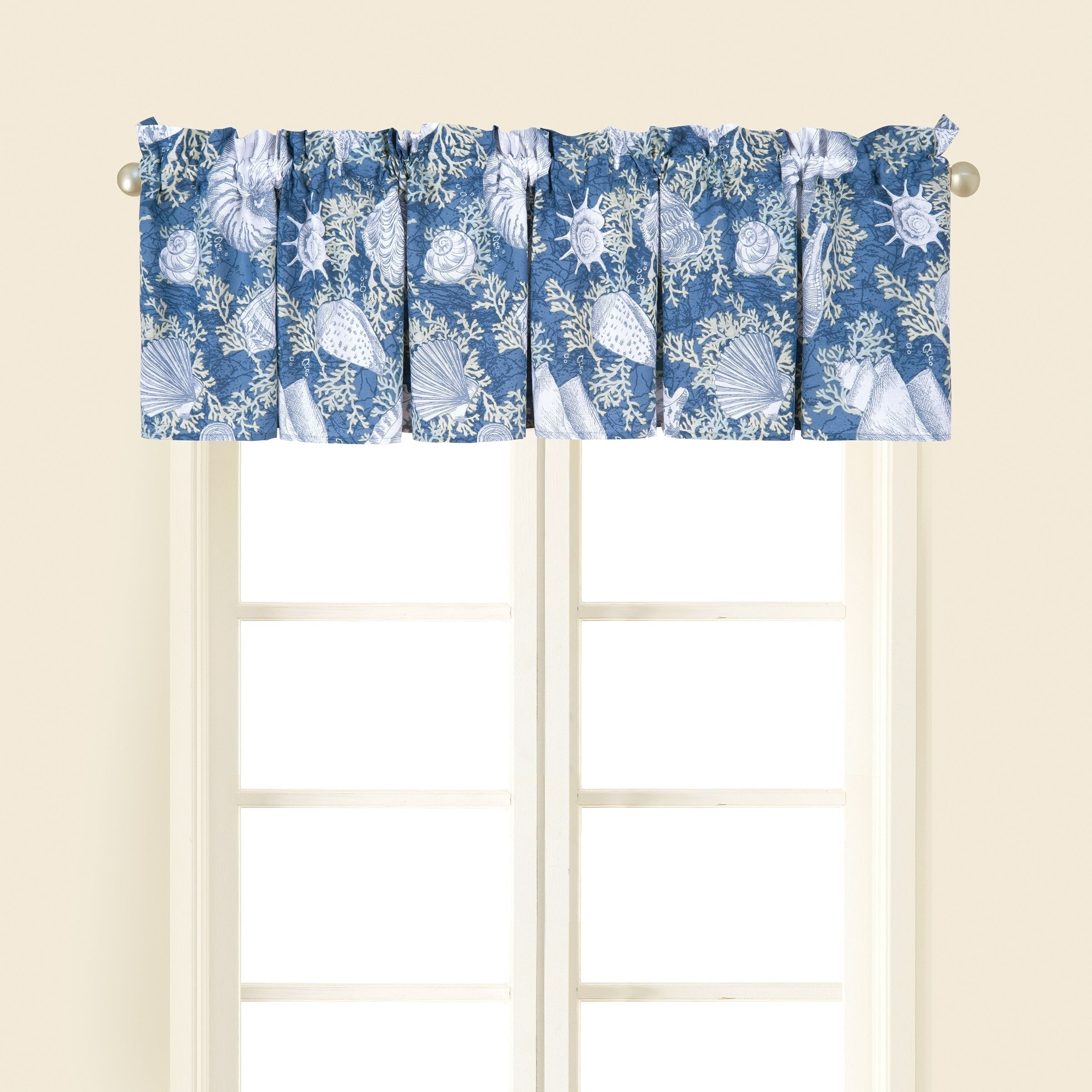 Details About Window Curtain Valance Nautical Beach Coastal Set 2 Cape Coral Decor Gift New With Coastal Tier And Valance Window Curtain Sets (View 12 of 20)