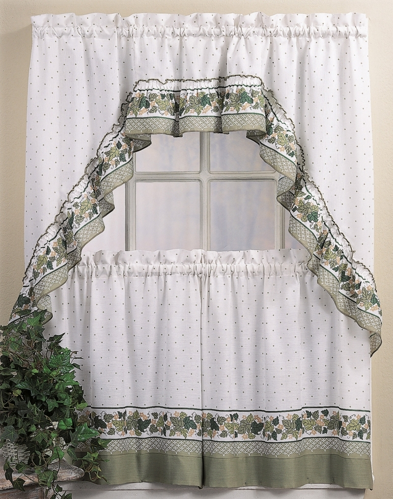 Easy Kitchen Tier Curtain Sets With Solid Microfiber 3 Piece Kitchen Curtain Valance And Tiers Sets (View 11 of 20)