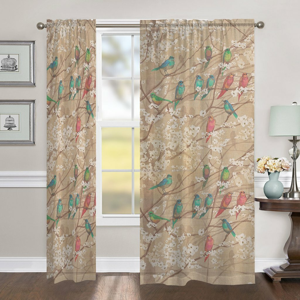 Eggers Azalea Leaves Floral Room Darkening Rod Pocket Single Curtain Panel Intended For Floral Blossom Ink Painting Thermal Room Darkening Kitchen Tier Pairs (View 12 of 20)