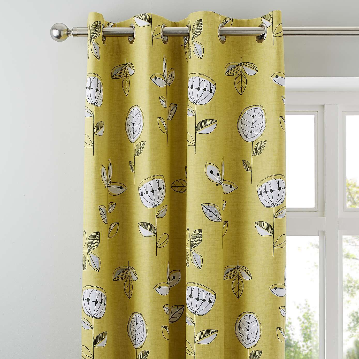 Elements Sunflower Yellow Blackout Eyelet Curtains In 2019 With Traditional Tailored Window Curtains With Embroidered Yellow Sunflowers (View 20 of 20)