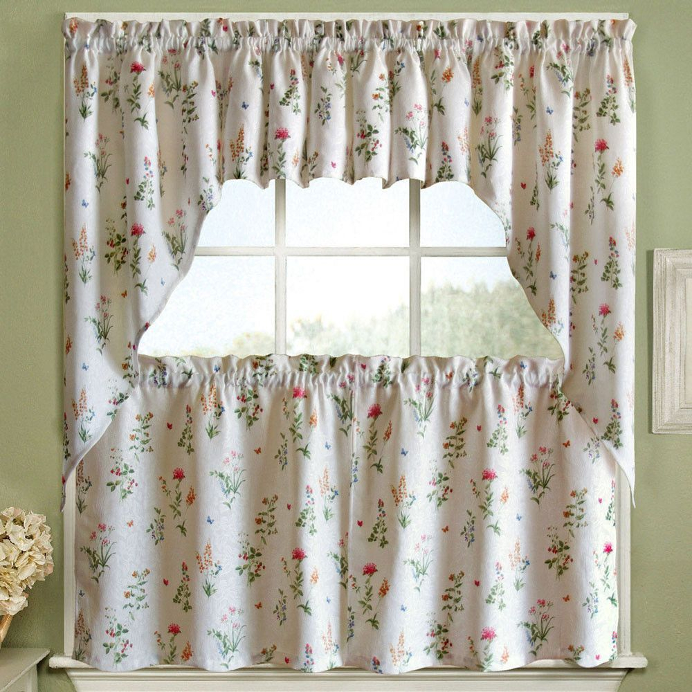 English Garden Tier, Valance And Swag In 2019 | Products For Touch Of Spring 24 Inch Tier Pairs (View 4 of 20)