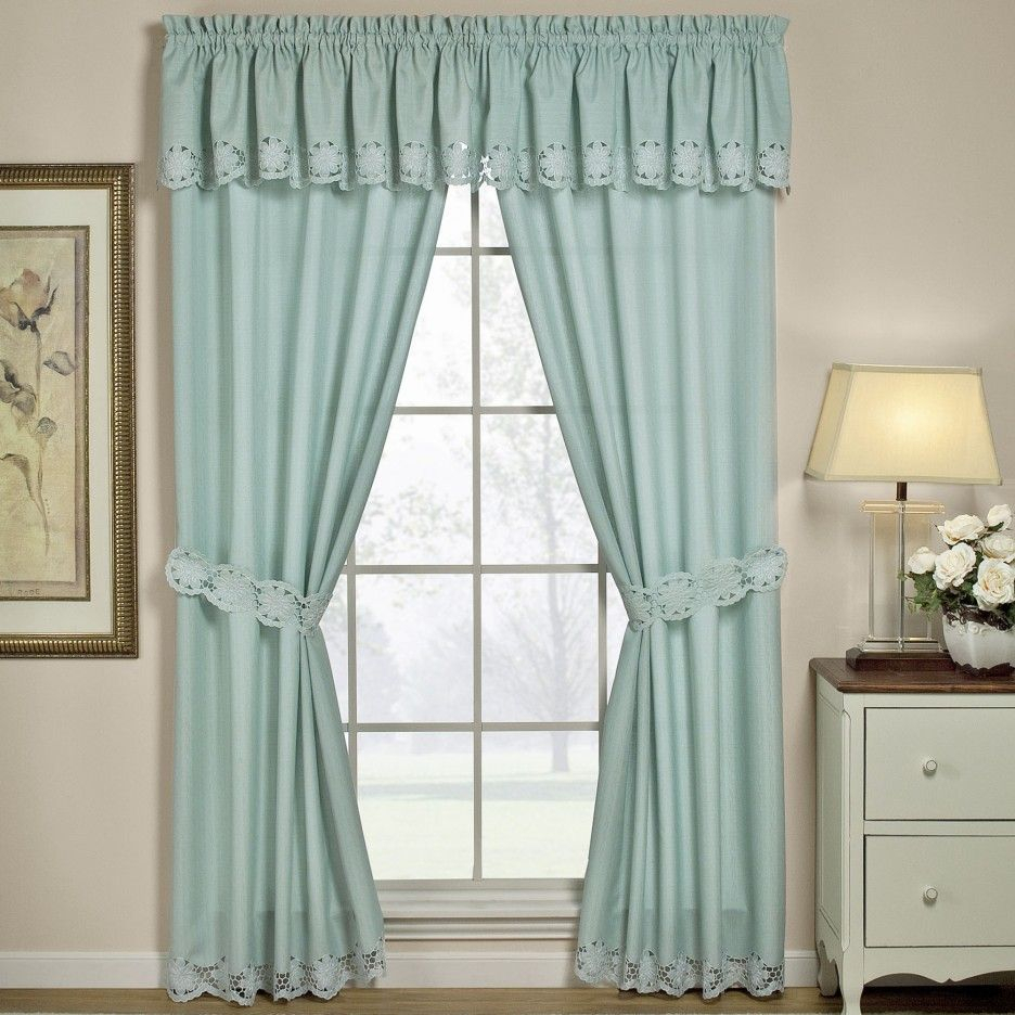 Enhance Your Room With Various Curtain Styles | Drapery Room Intended For Country Style Curtain Parts With White Daisy Lace Accent (View 7 of 20)