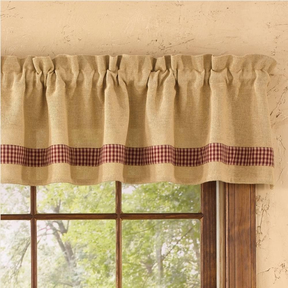 Excellent Kitchen Valance Red Curtains Make Burlap For In Embroidered Ladybugs Window Curtain Pieces (View 8 of 20)