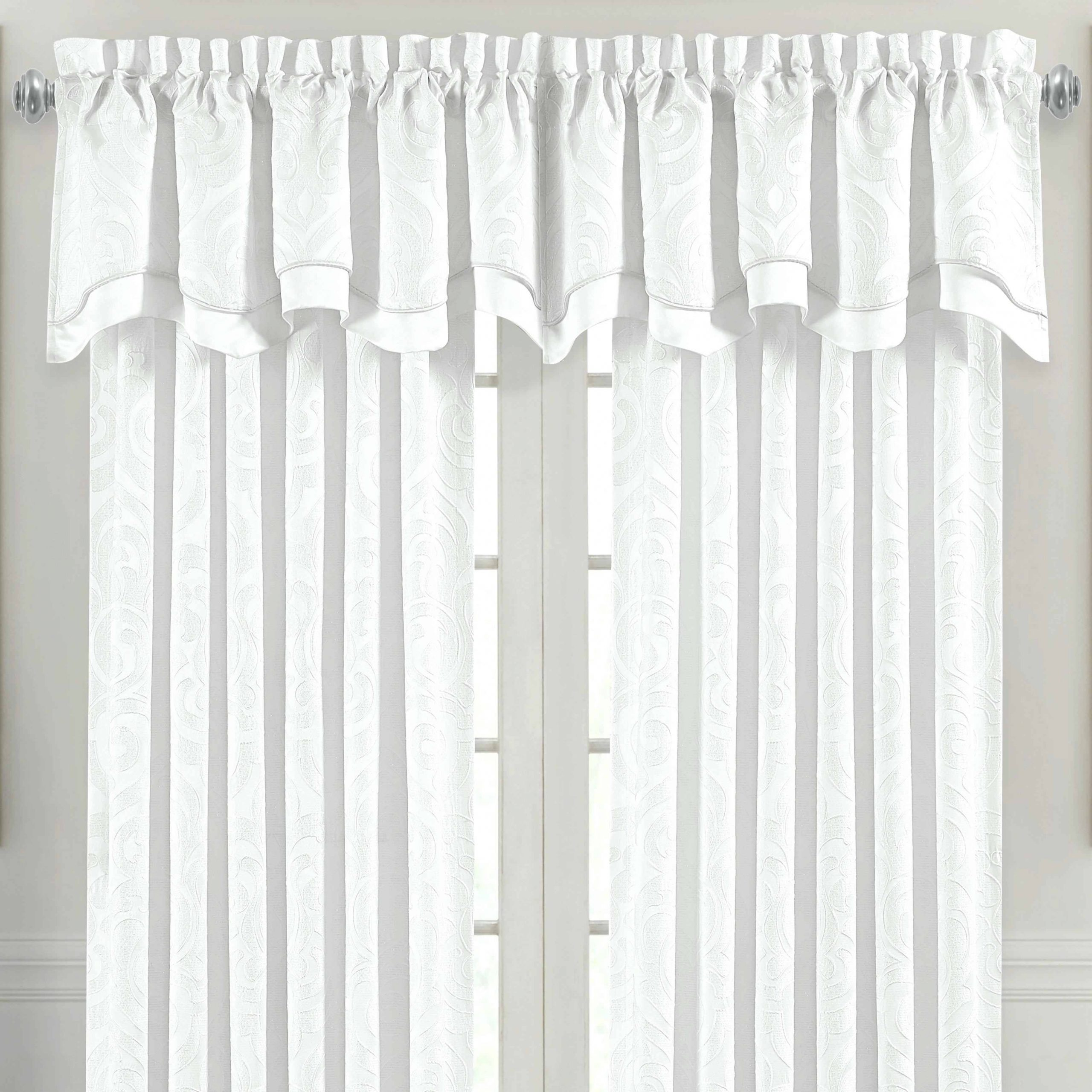 Excellent Kitchen Valance Red Curtains Make Burlap For Intended For Modern Subtle Texture Solid White Kitchen Curtain Parts With Grommets Tier And Valance Options (View 11 of 20)