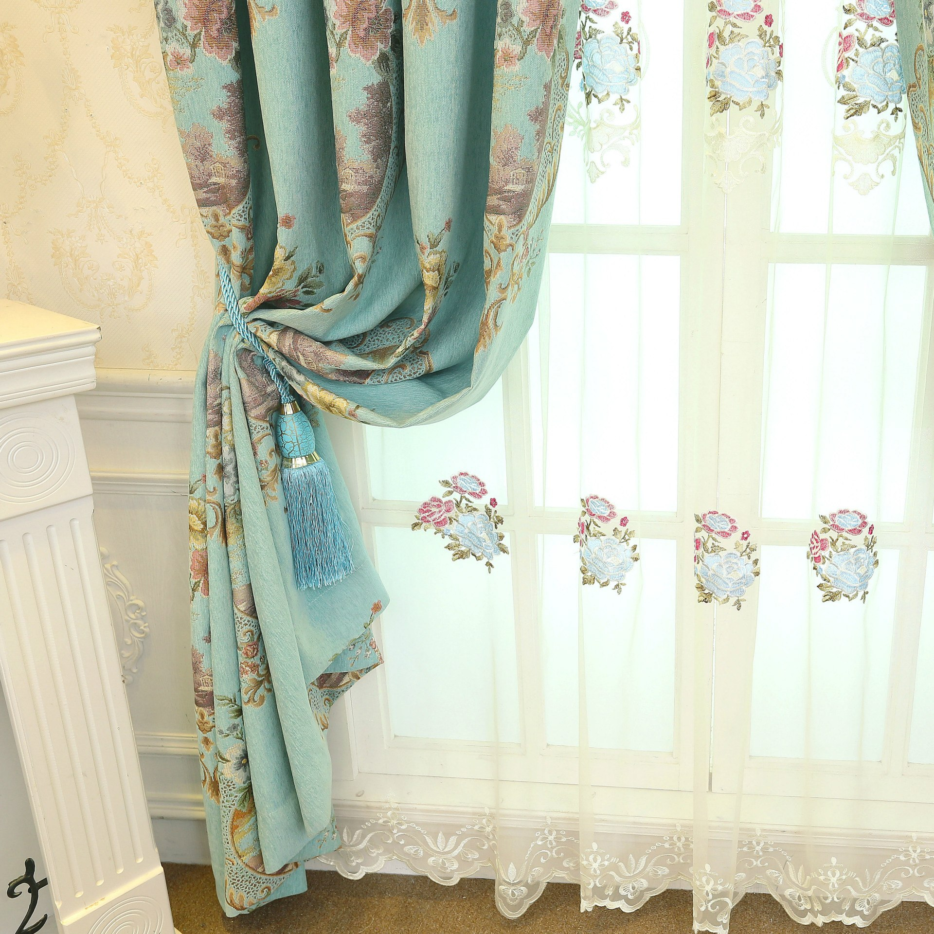 Fascinating Lace Curtains Target Tiers White Spotlight With Regard To Cotton Lace 5 Piece Window Tier And Swag Sets (View 19 of 20)