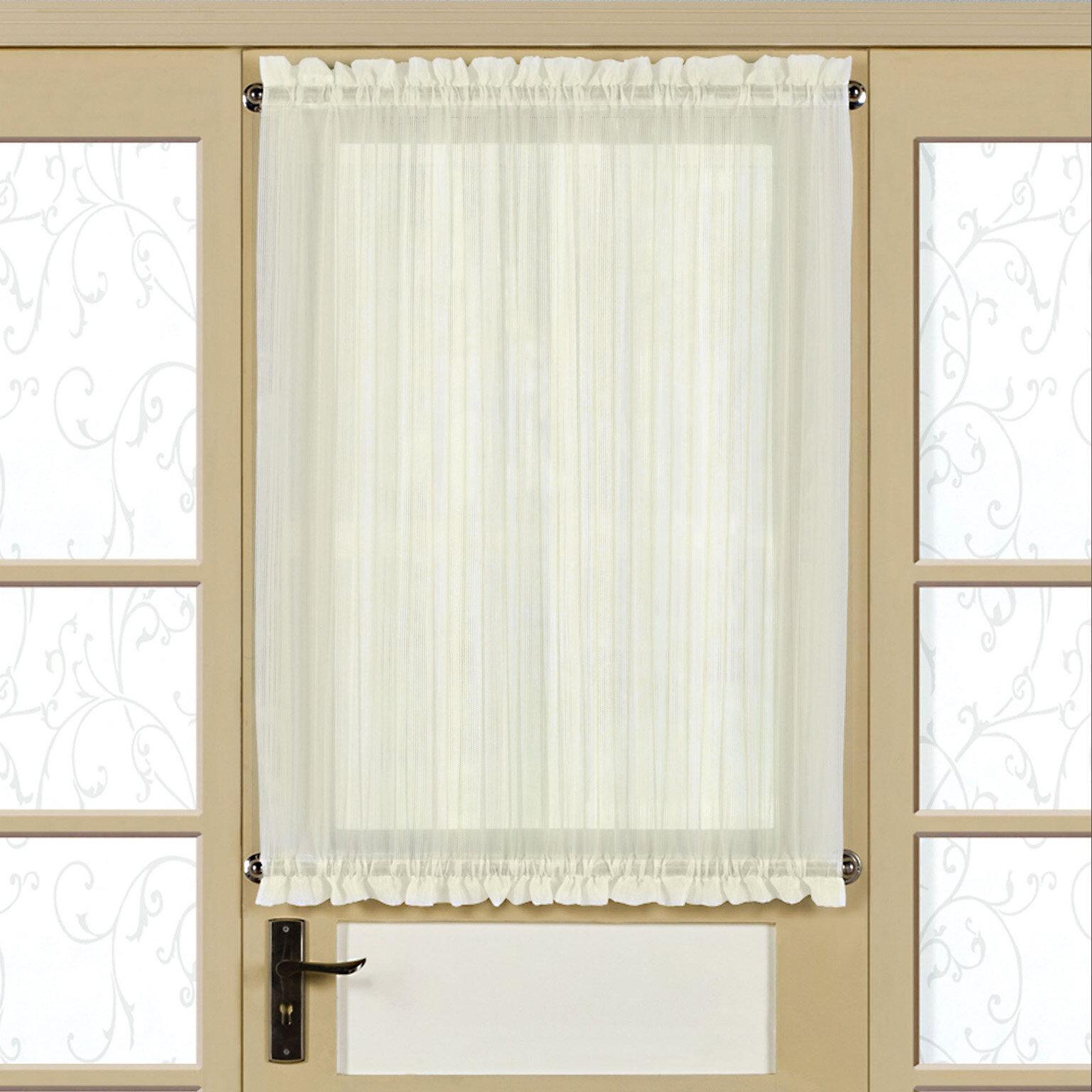 Gracie Oaks Neihoff Micro Stripe Semi Sheer Rod Pocket For Ivory Micro Striped Semi Sheer Window Curtain Pieces (View 12 of 20)
