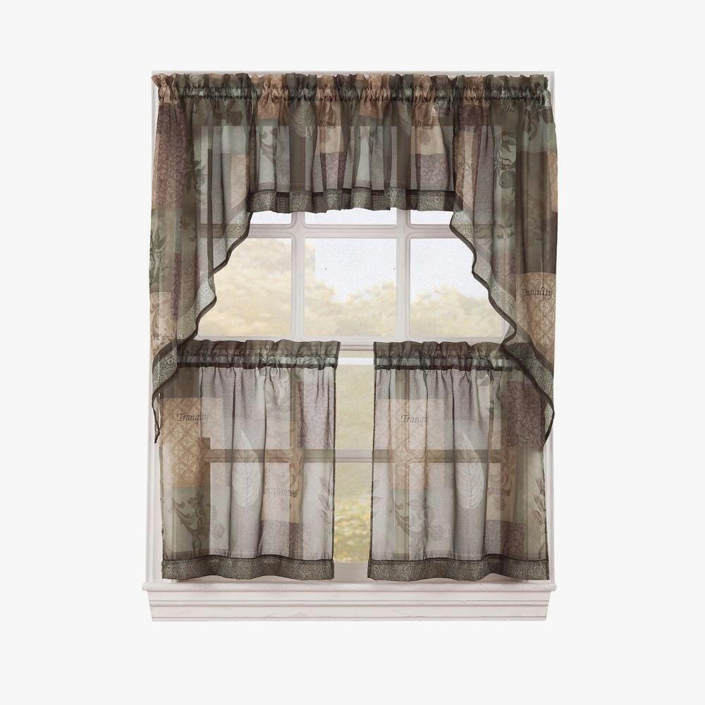 Gratifying Green Kitchen Curtains – Camata (View 16 of 20)