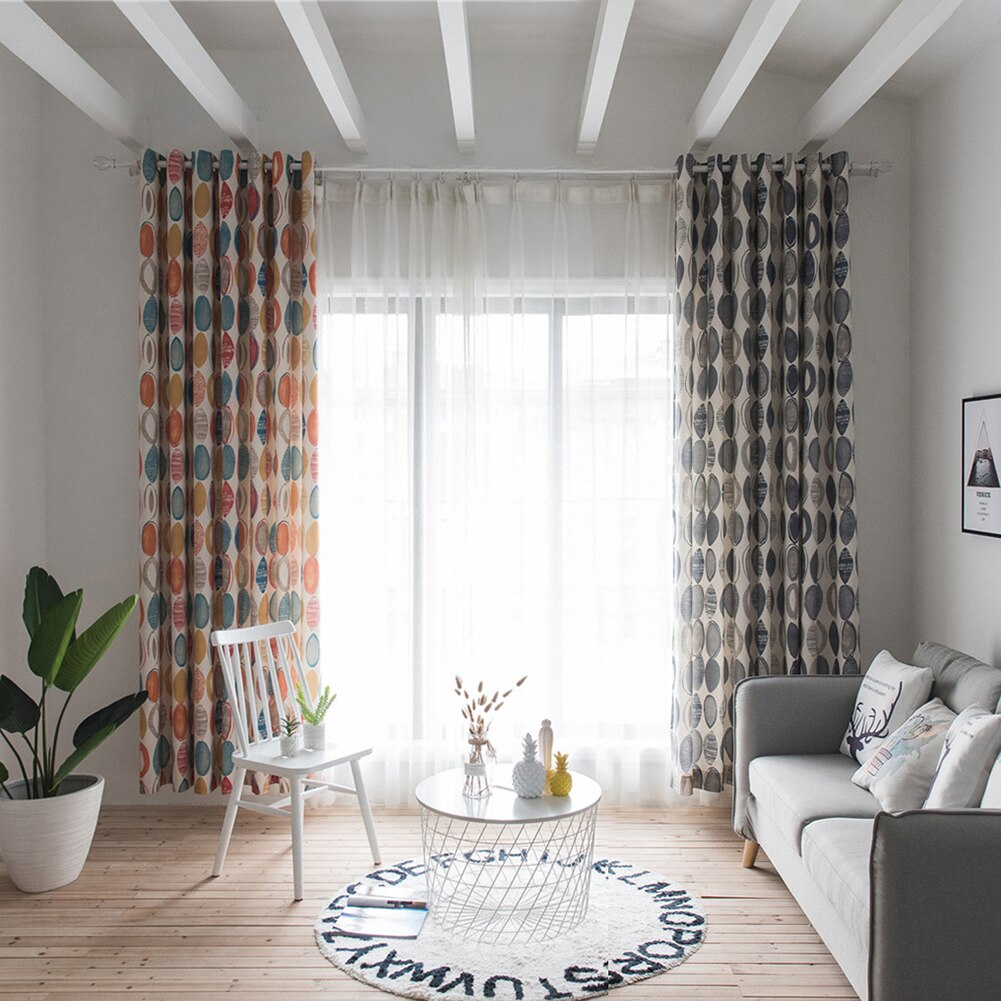 High Shading Round Circle Window Curtain Valance Drape Home With Circle Curtain Valances (View 8 of 20)