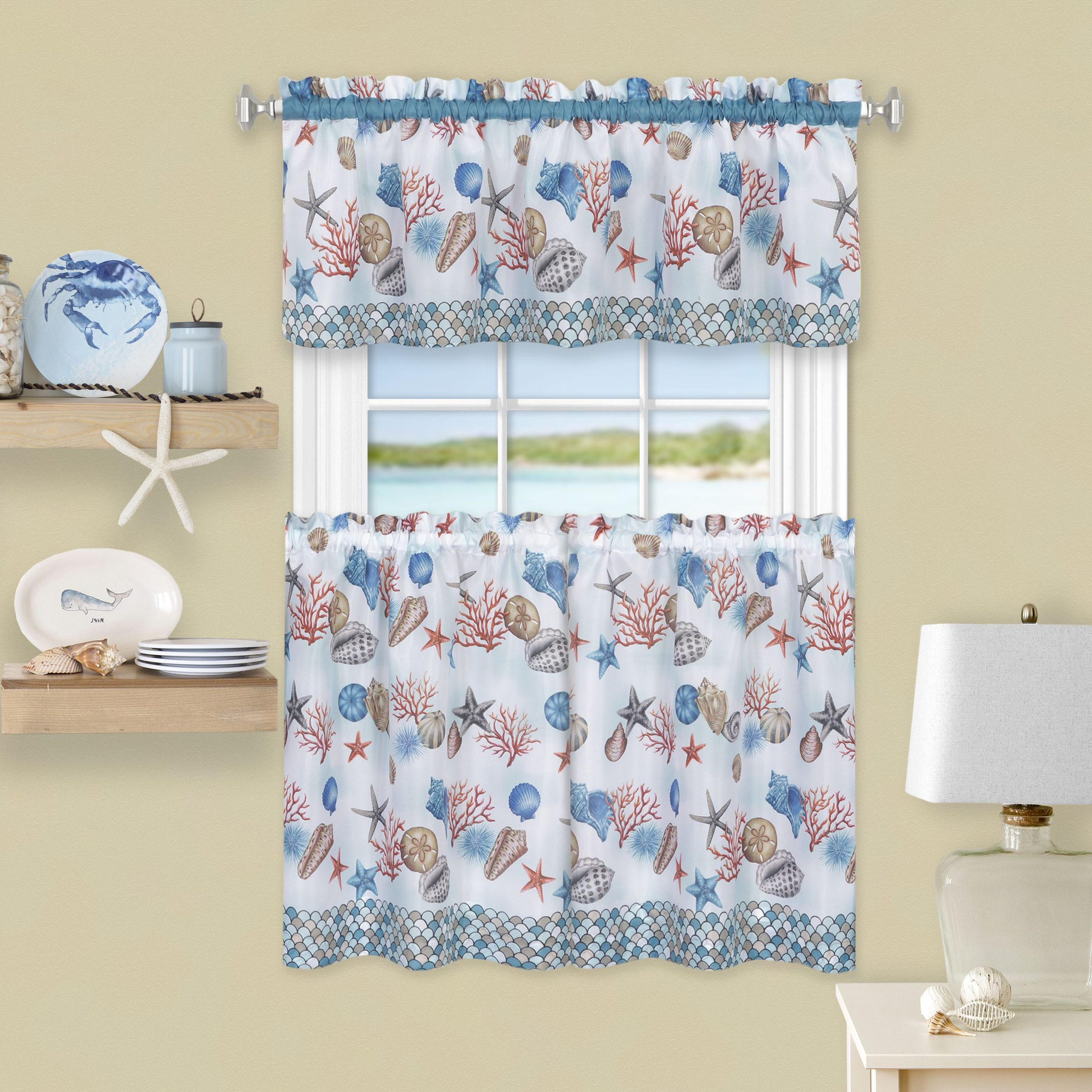 Home | Coastal Curtains ☀⚓♥ In 2019 | Window Curtains For Traditional Two Piece Tailored Tier And Valance Window Curtains (View 9 of 20)