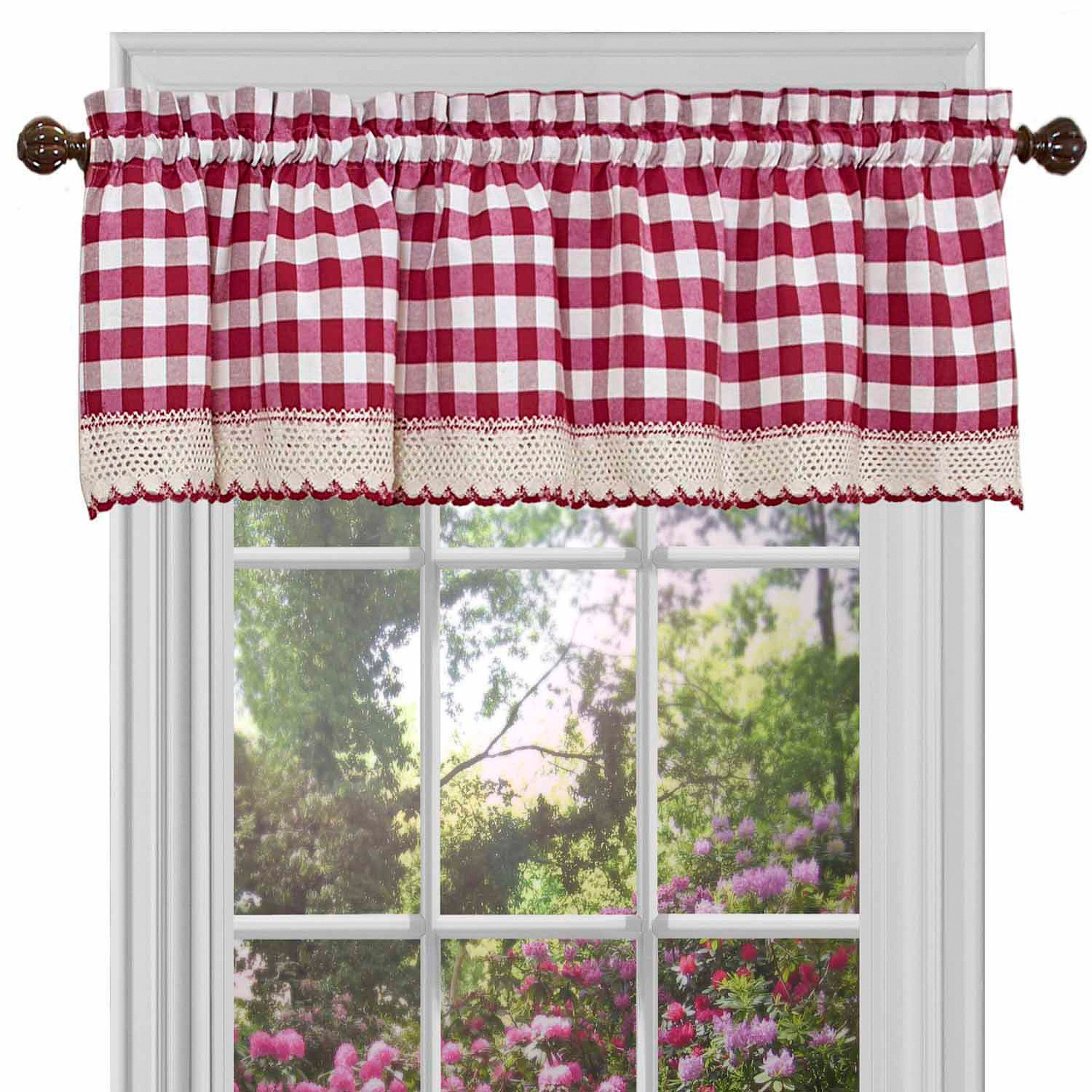 Home | Home ~ Kitchen Ideas | Buffalo Check Curtains, Check With Classic Navy Cotton Blend Buffalo Check Kitchen Curtain Sets (View 5 of 20)